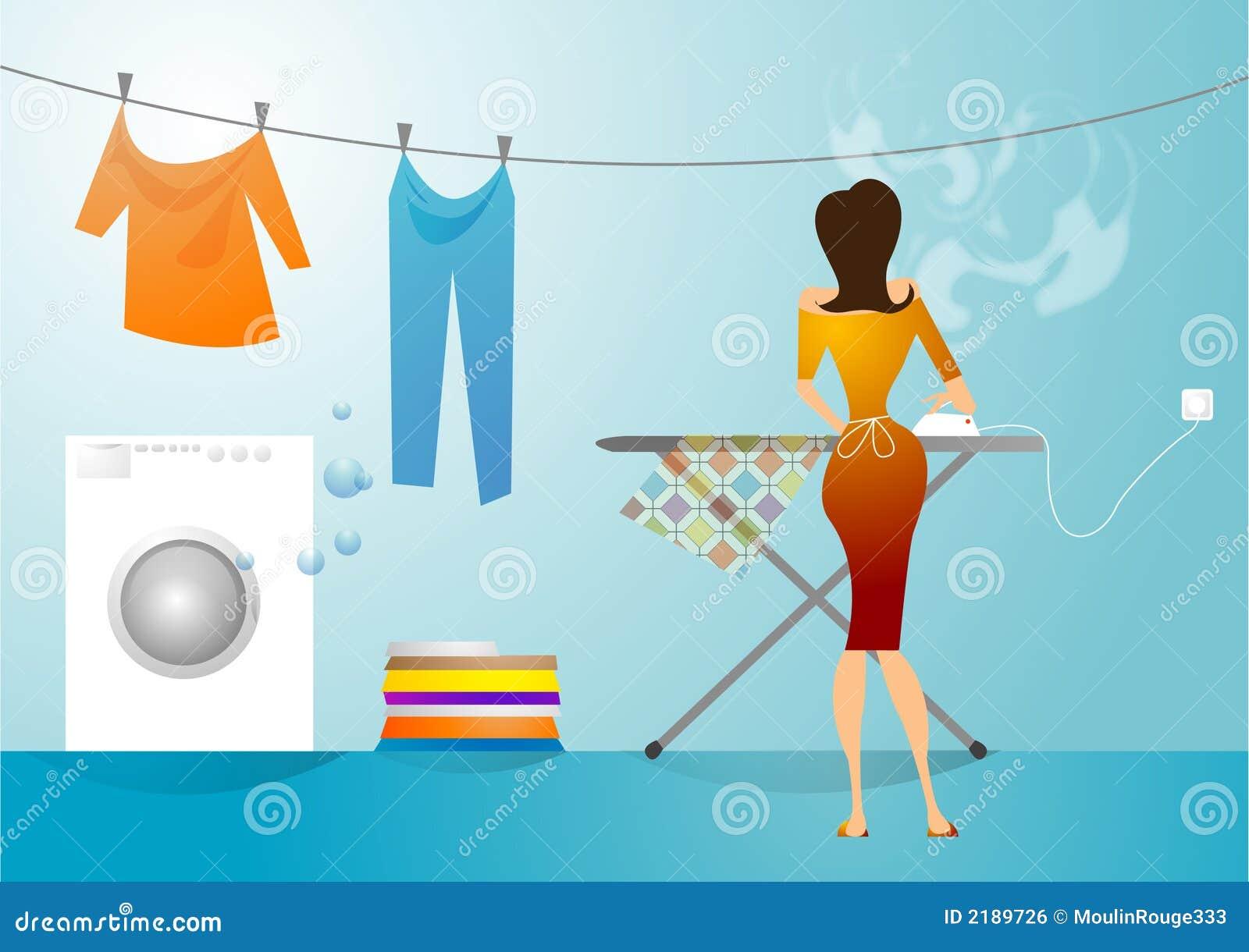 Lavanderia e negócio passando