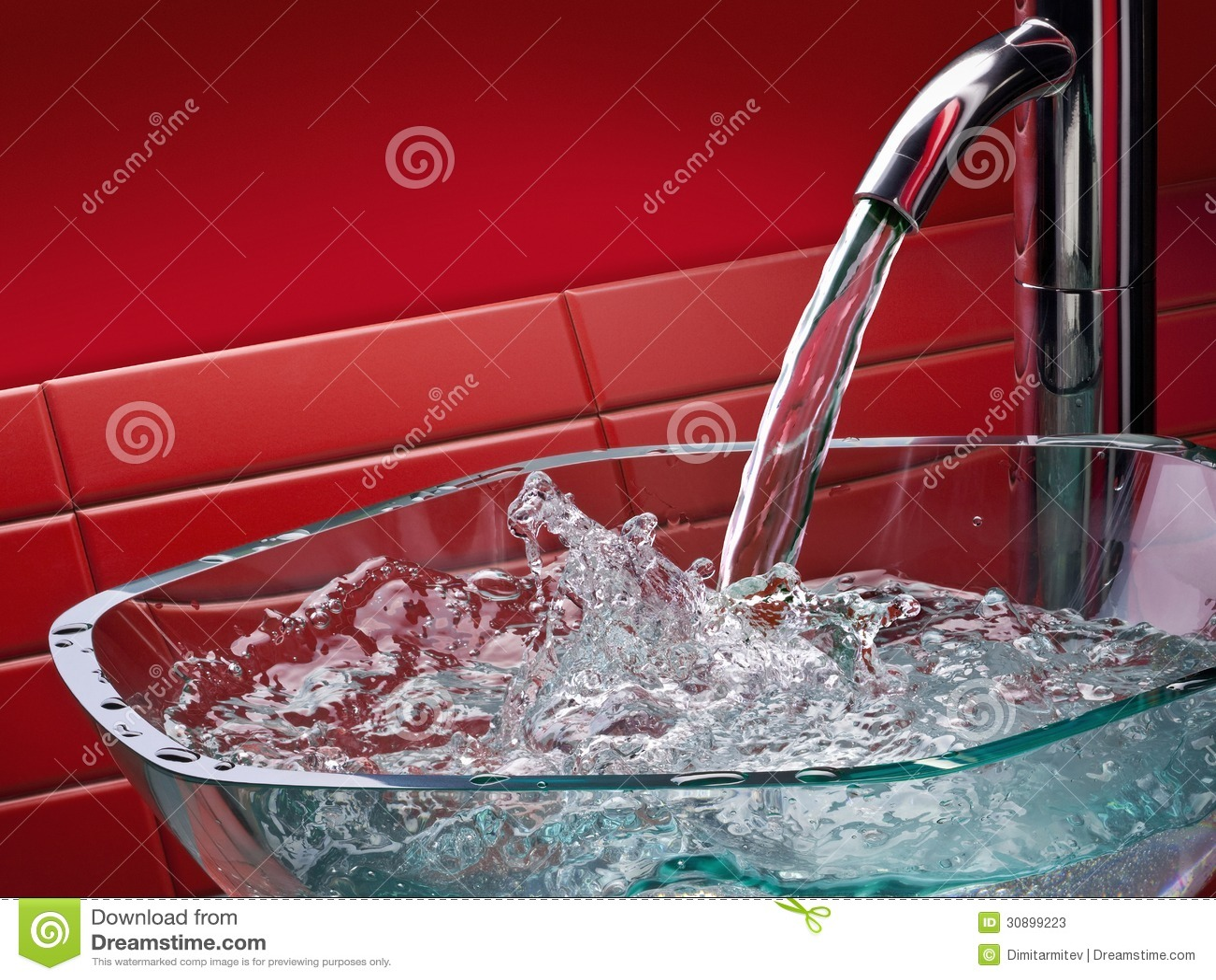 Lavandino di vetro moderno del bagno immagine stock immagine 30899223 - Lavandino bagno vetro ...