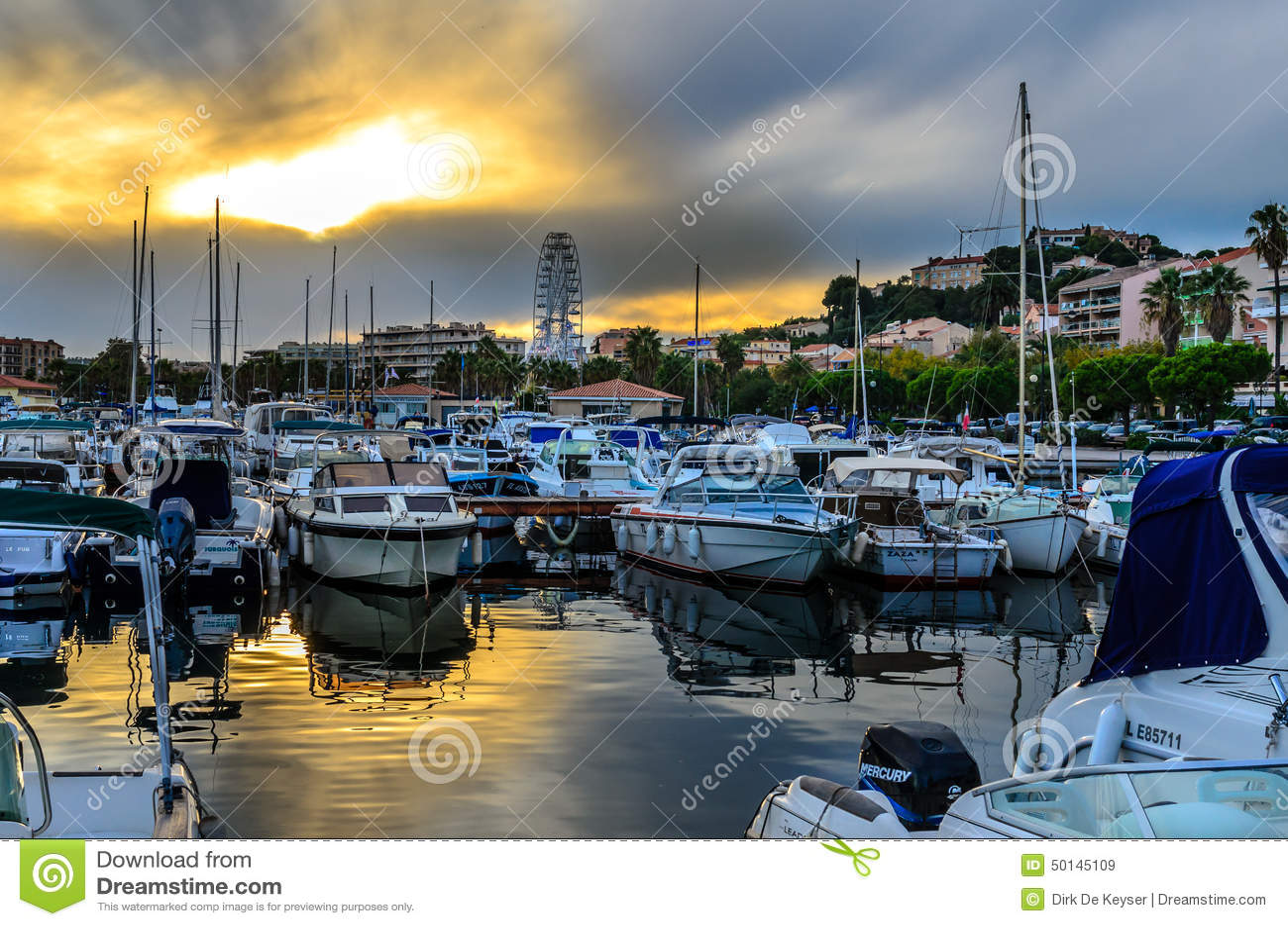 Lavandou international marina in the french Riviera