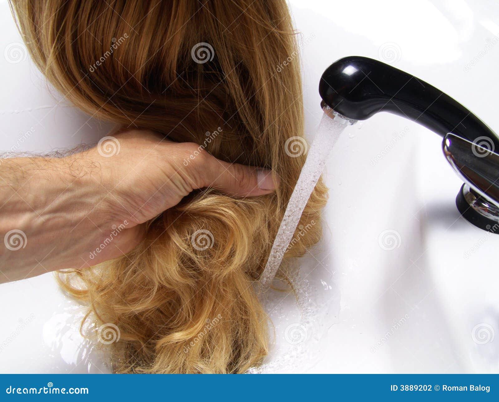 Download Lavata dei capelli fotografia stock. Immagine di bellezza - 3889202