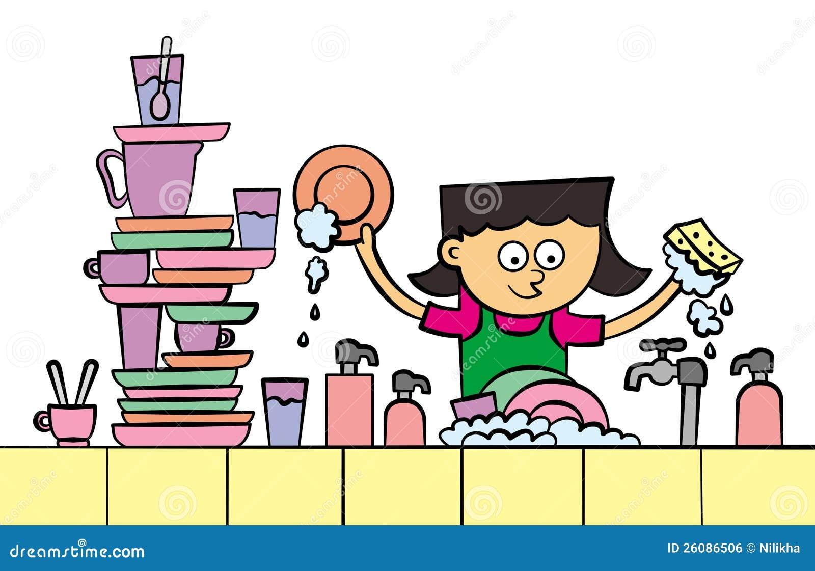 lave vaisselle illustration stock illustration du lavage 26086506. Black Bedroom Furniture Sets. Home Design Ideas