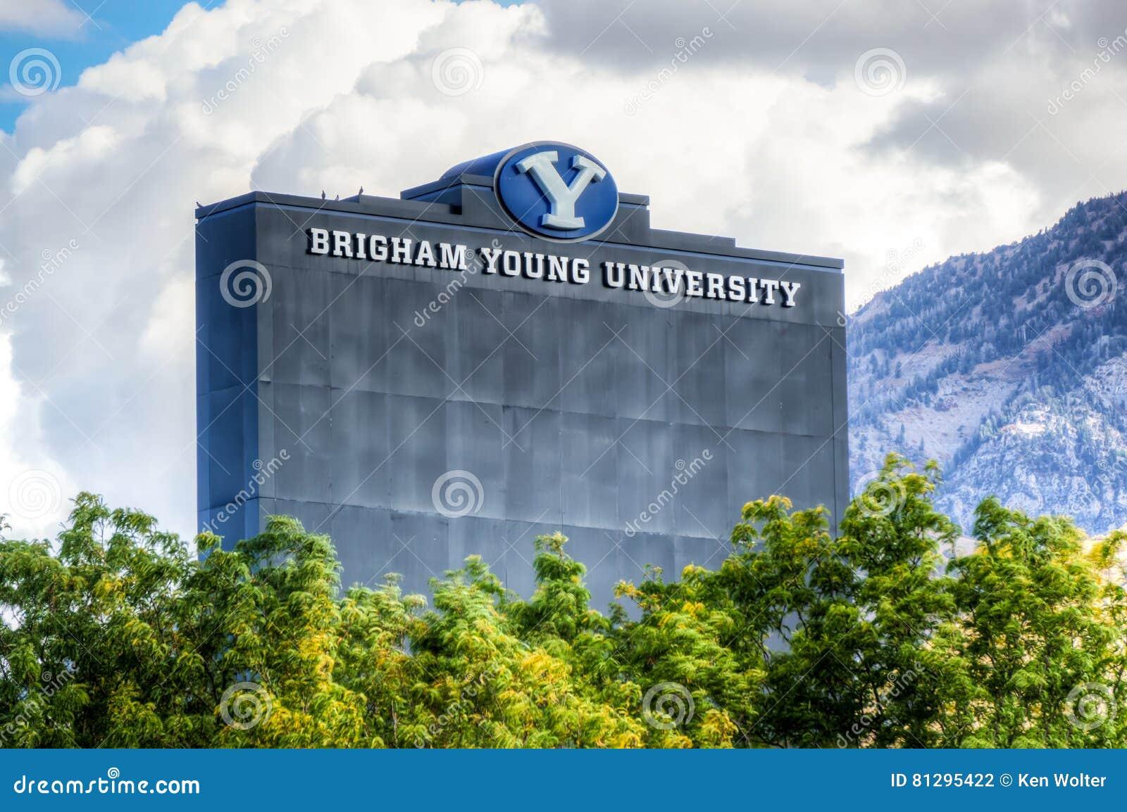 LaVell Edwards Stadium på universitetsområde av Brigham Young University