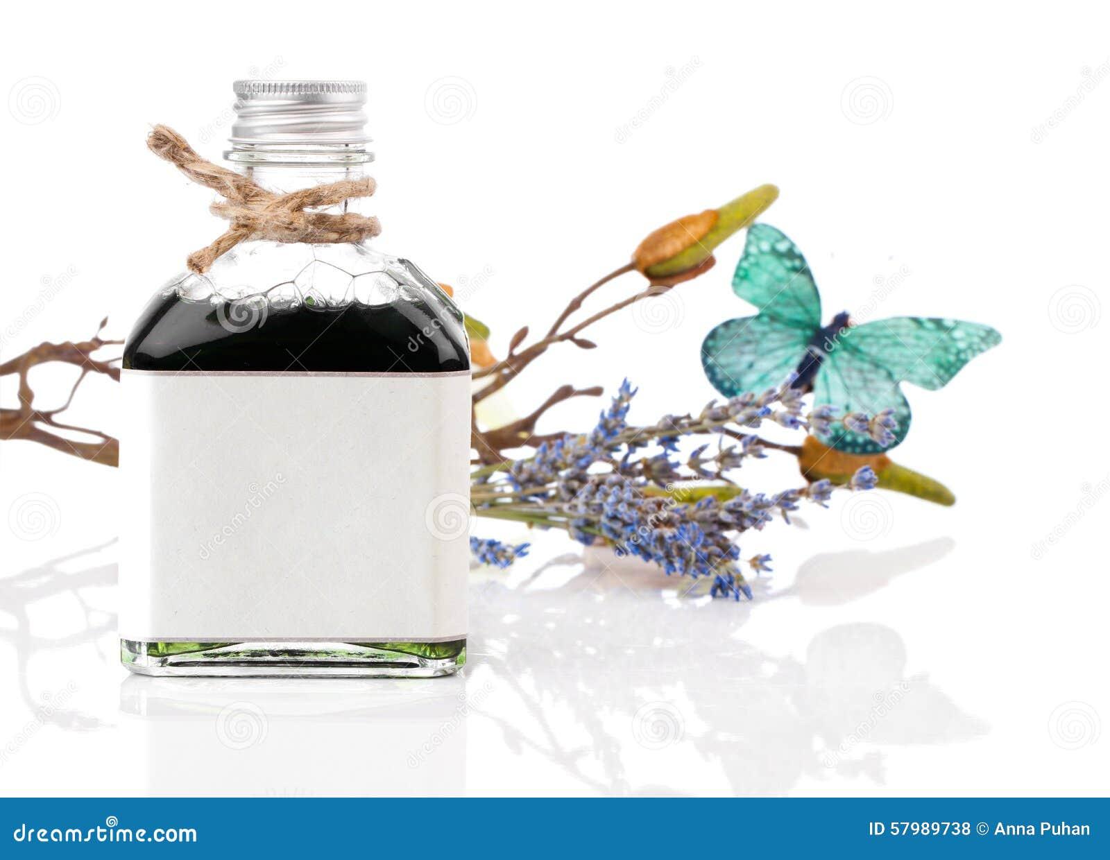Lavendelolie en bloemen