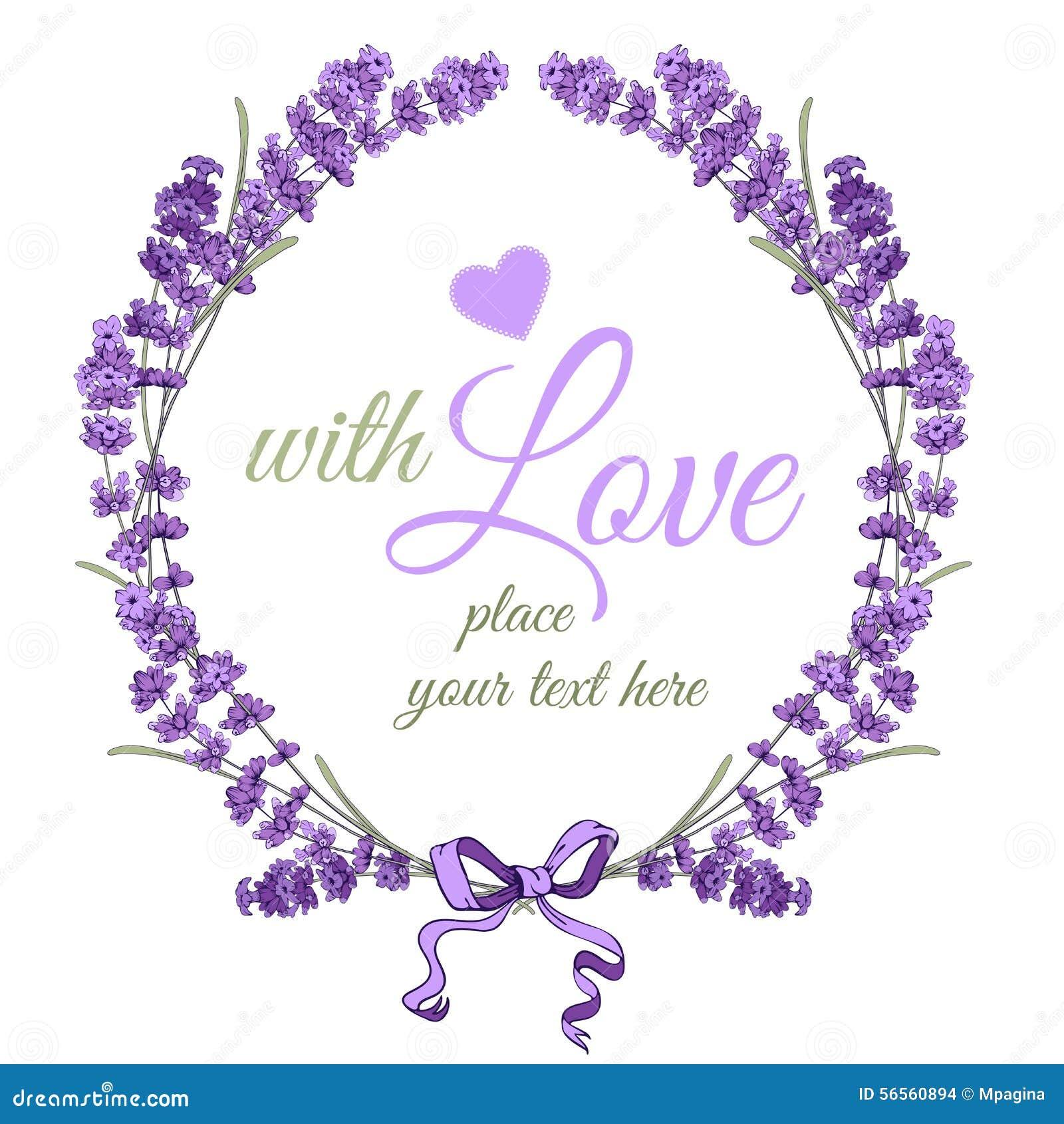 Download Lavender στεφάνι διανυσματική απεικόνιση. εικονογραφία από υγεία - 56560894