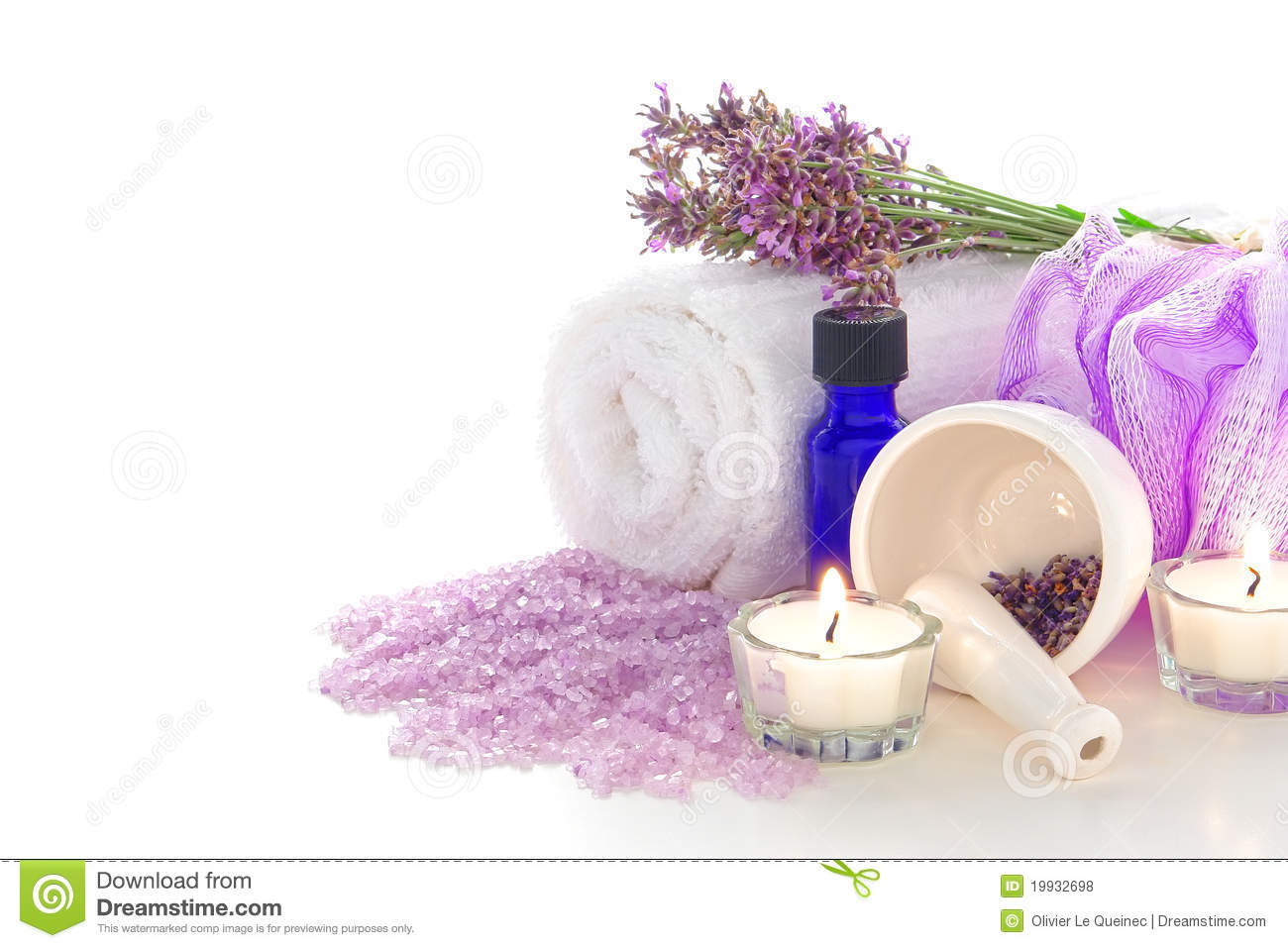 Lavender Aromatherapy Treatment Kit in a Spa
