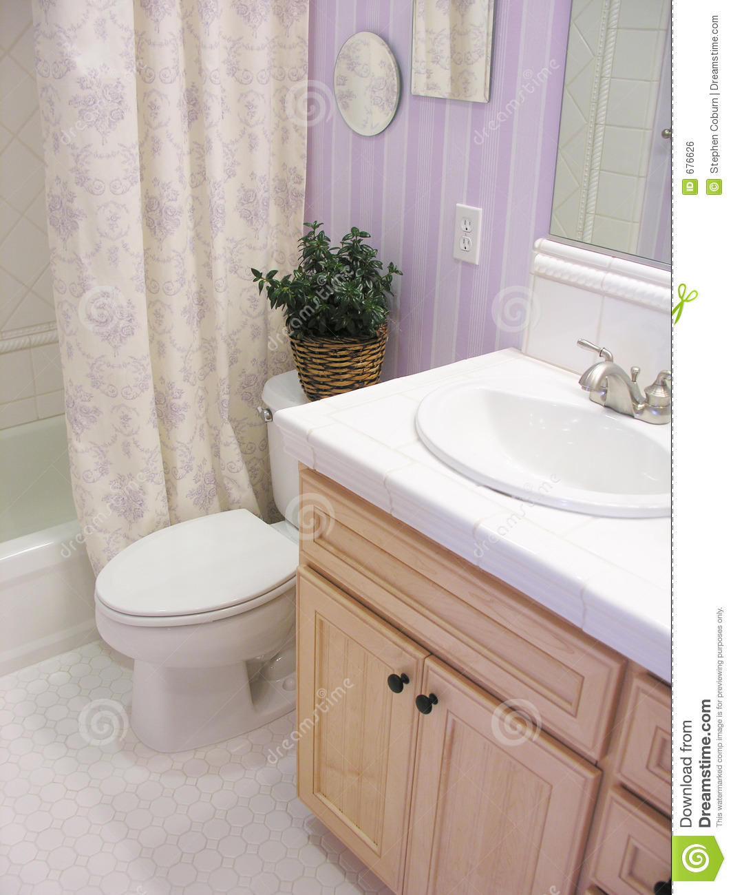 Royalty Free Stock Photo. Download Lavender Bathroom ...