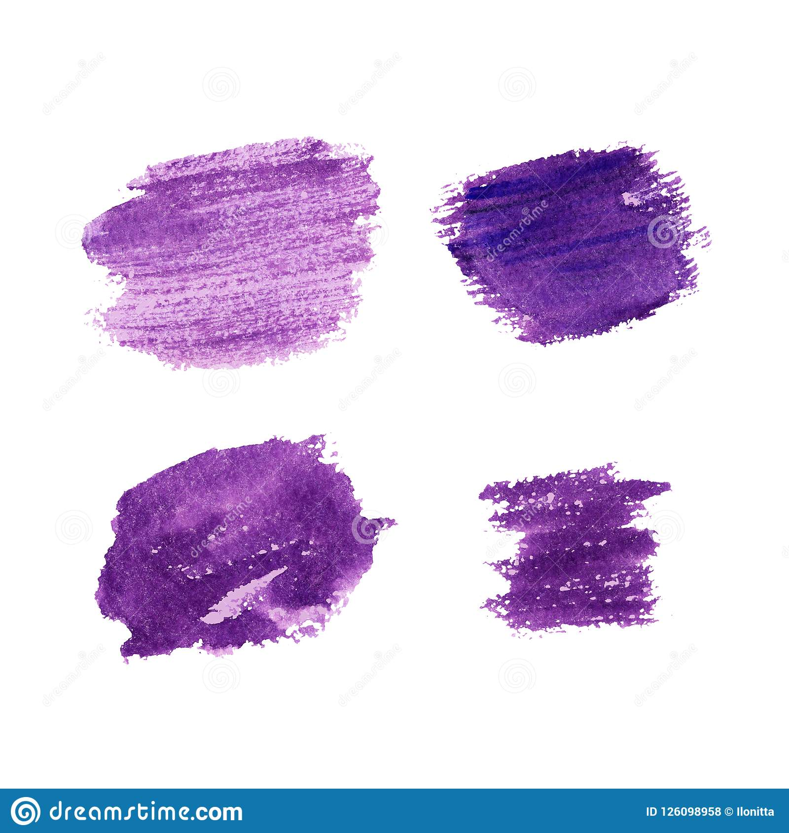 Lavender color brush strokes hand drawn background