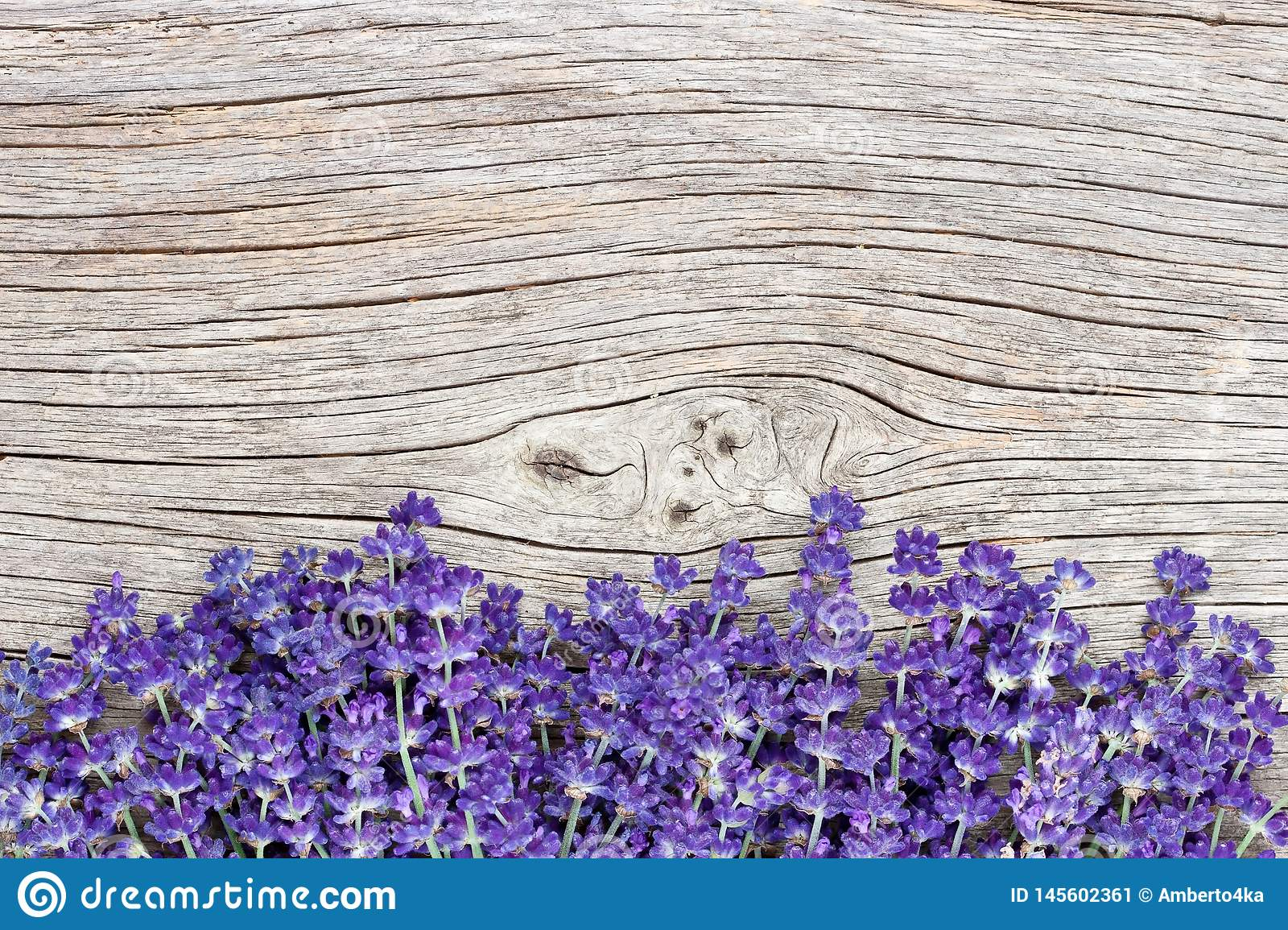 Lavender Flowers Bouquet On Rustic Background Top View Stock Image Image Of Fresh Bright 145602361