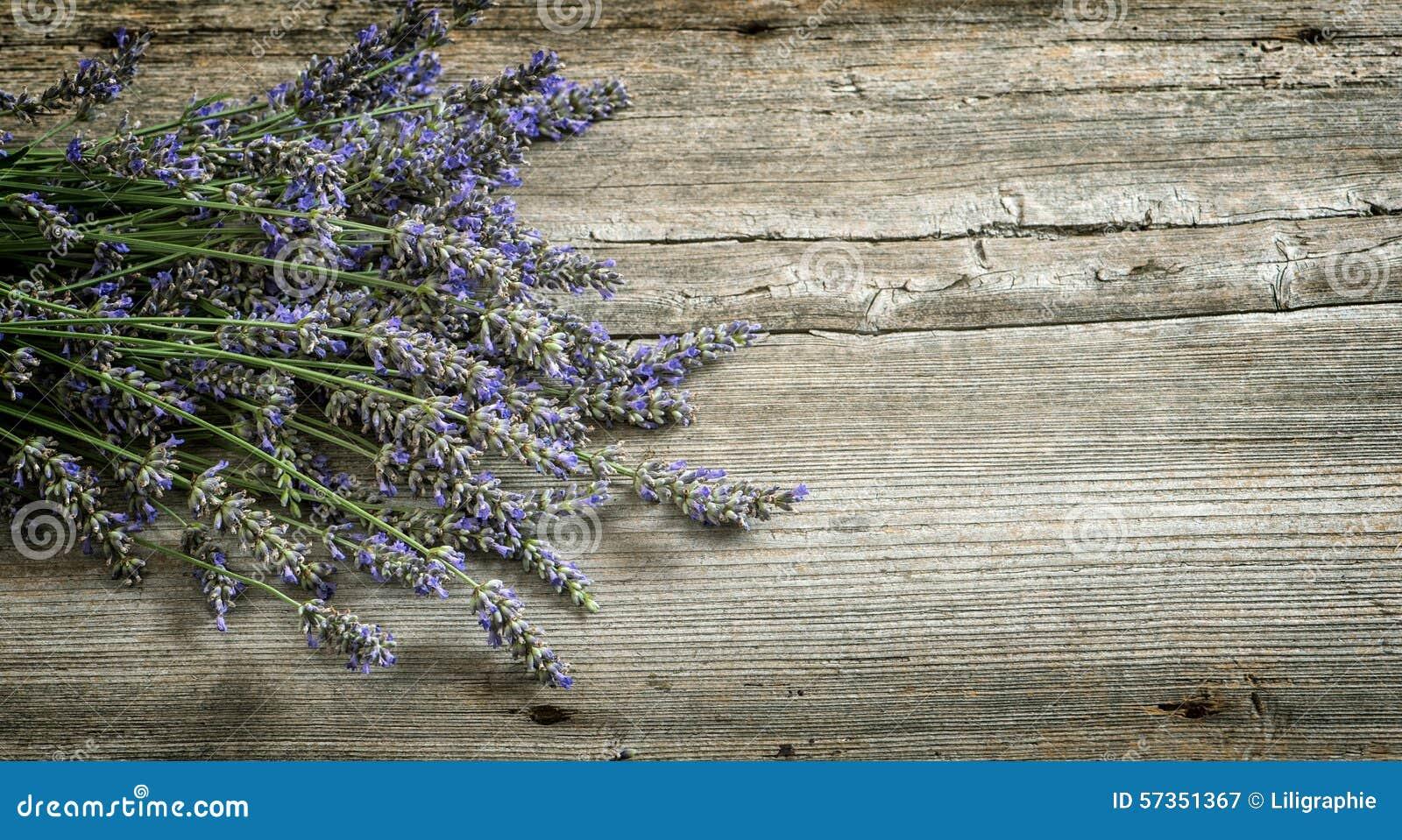 lavender flowers on wooden background vintage style toned stock photo image 57351367. Black Bedroom Furniture Sets. Home Design Ideas