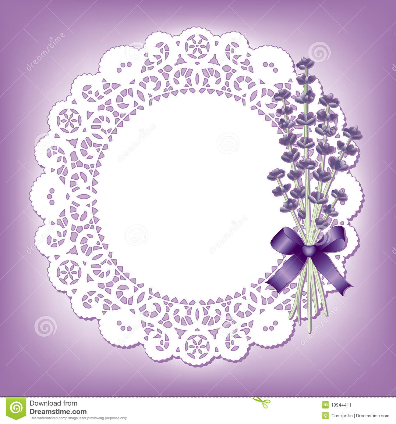 Lavender Lace Round Doily