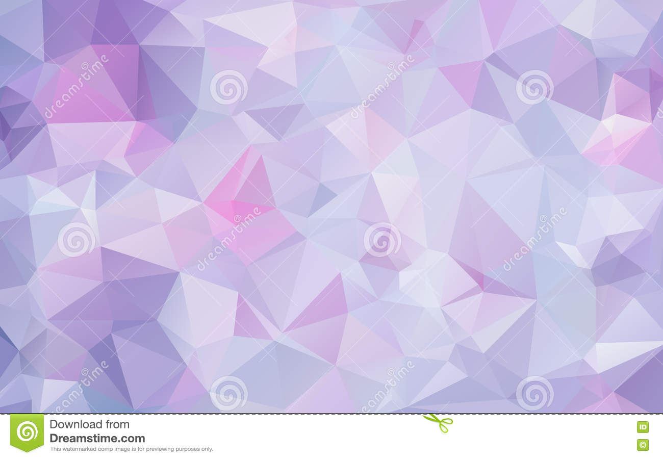 Purple Polygonal Abstract Background: Lavender Lilac Abstract Polygonal Geometric Background