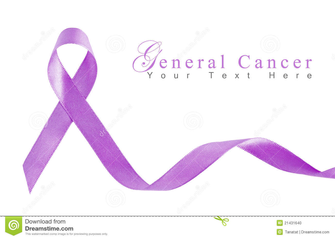 Lavender Ribbon For General Cancer Stock Photo - Image: 21431640
