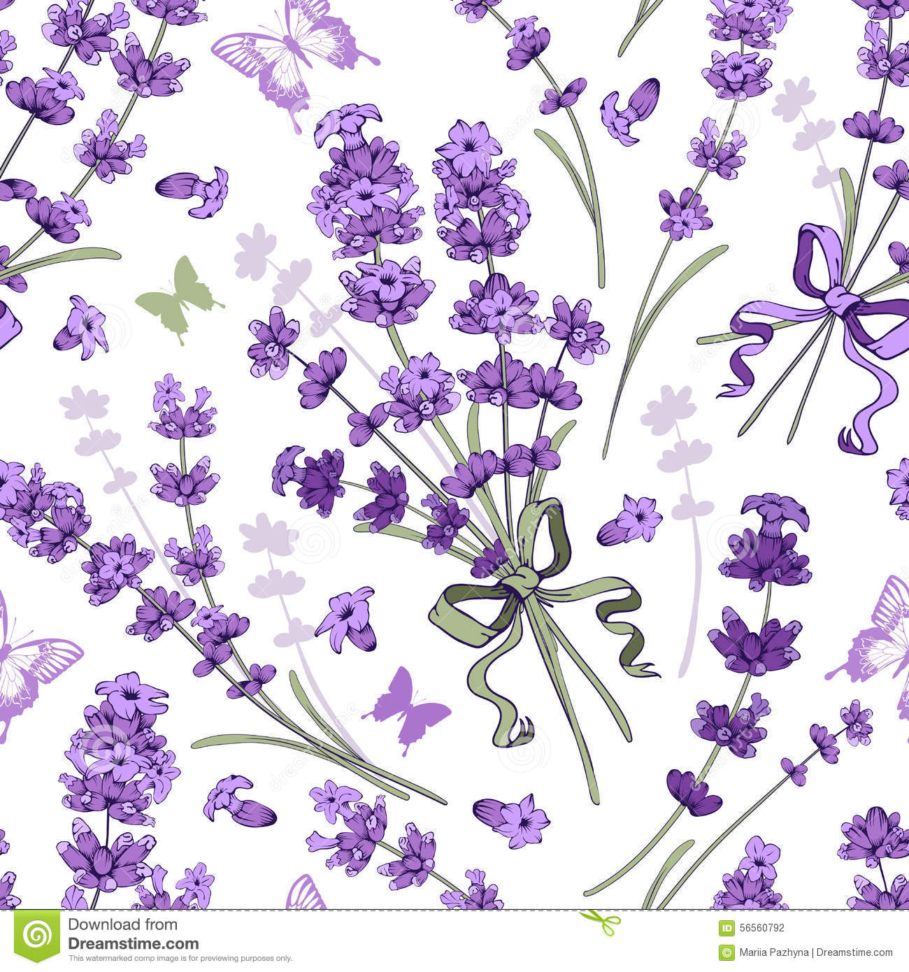 Lavender Seamless Pattern Stock Vector Image Of Garden