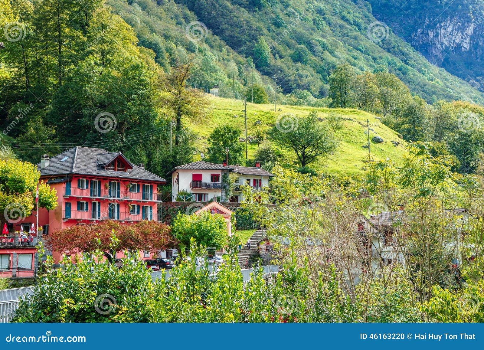 Lavertezzo Verzasca Valley Switzerland Stock Photo