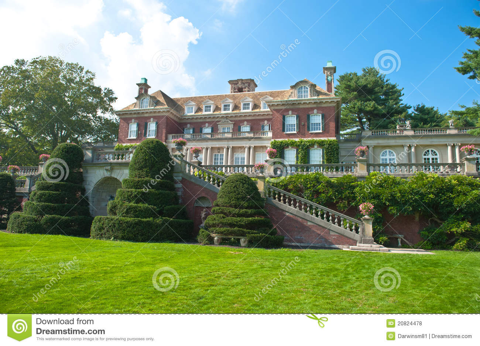 Lavish beautiful mansion exterior stock photo image for Beautiful mansions