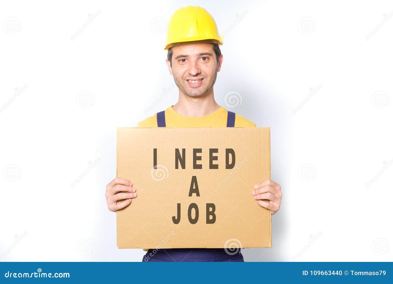 cartello cerco lavoro