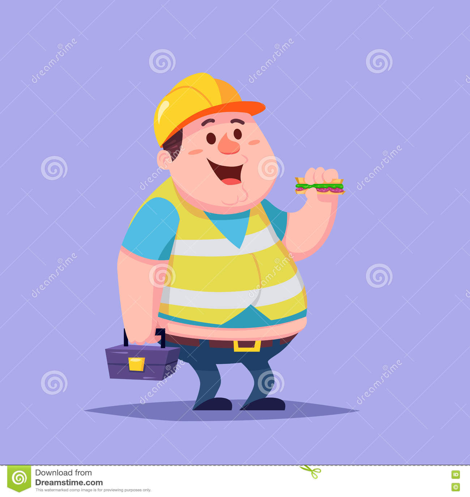Lavoratore grasso del costruttore del riparatore dell uomo del