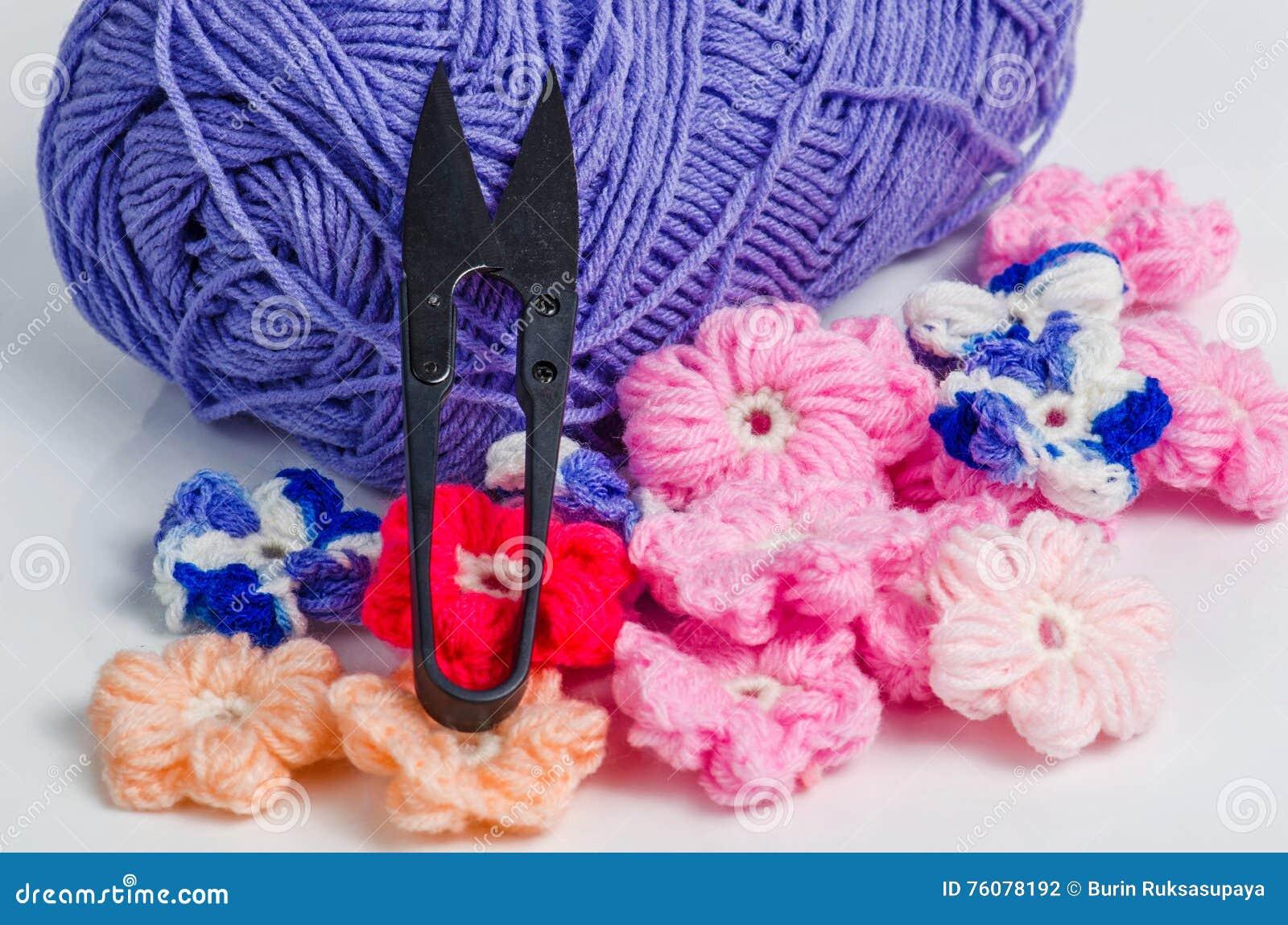 Lavori Alluncinetto I Materiali Fotografia Stock Immagine Di