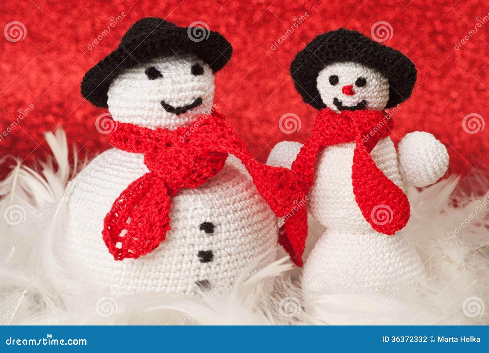 Lavori Alluncinetto I Pupazzi Di Neve Fotografia Stock Immagine