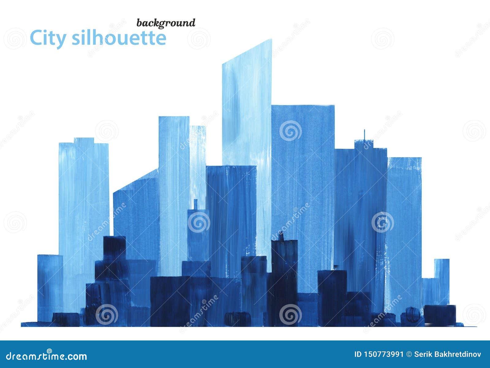 Lavoro dell acquerello di paesaggio urbano Paesaggio della citt?