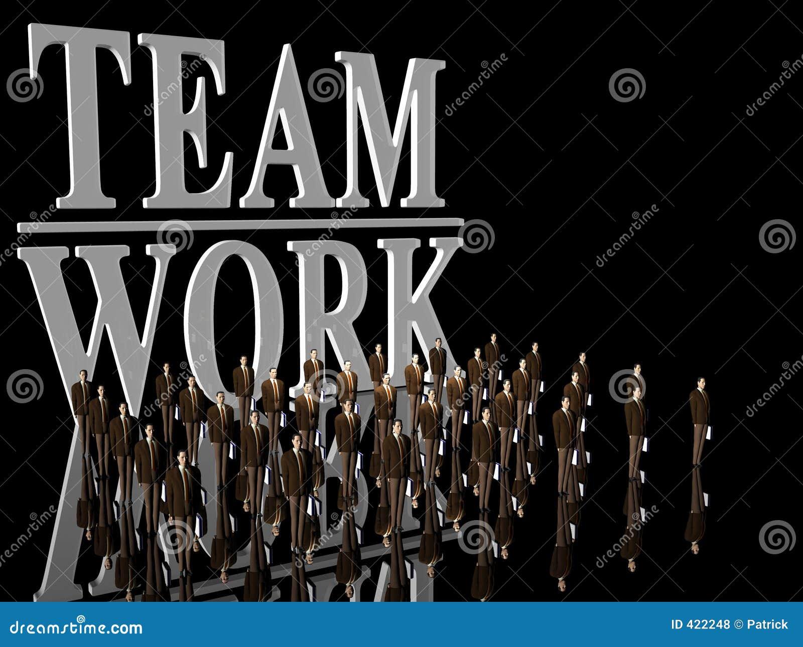 Lavoro della squadra sopra il nero.