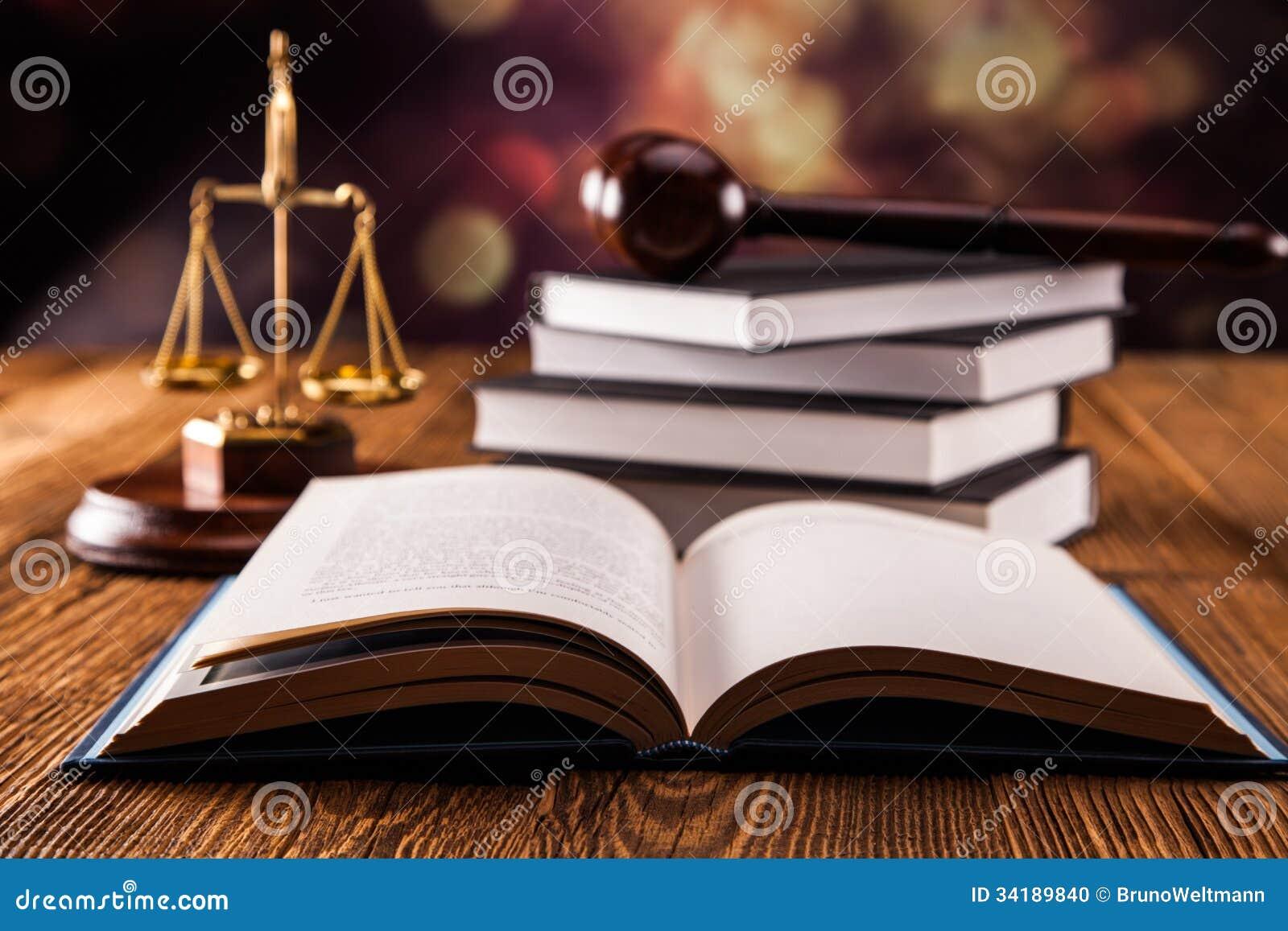 Law book concept