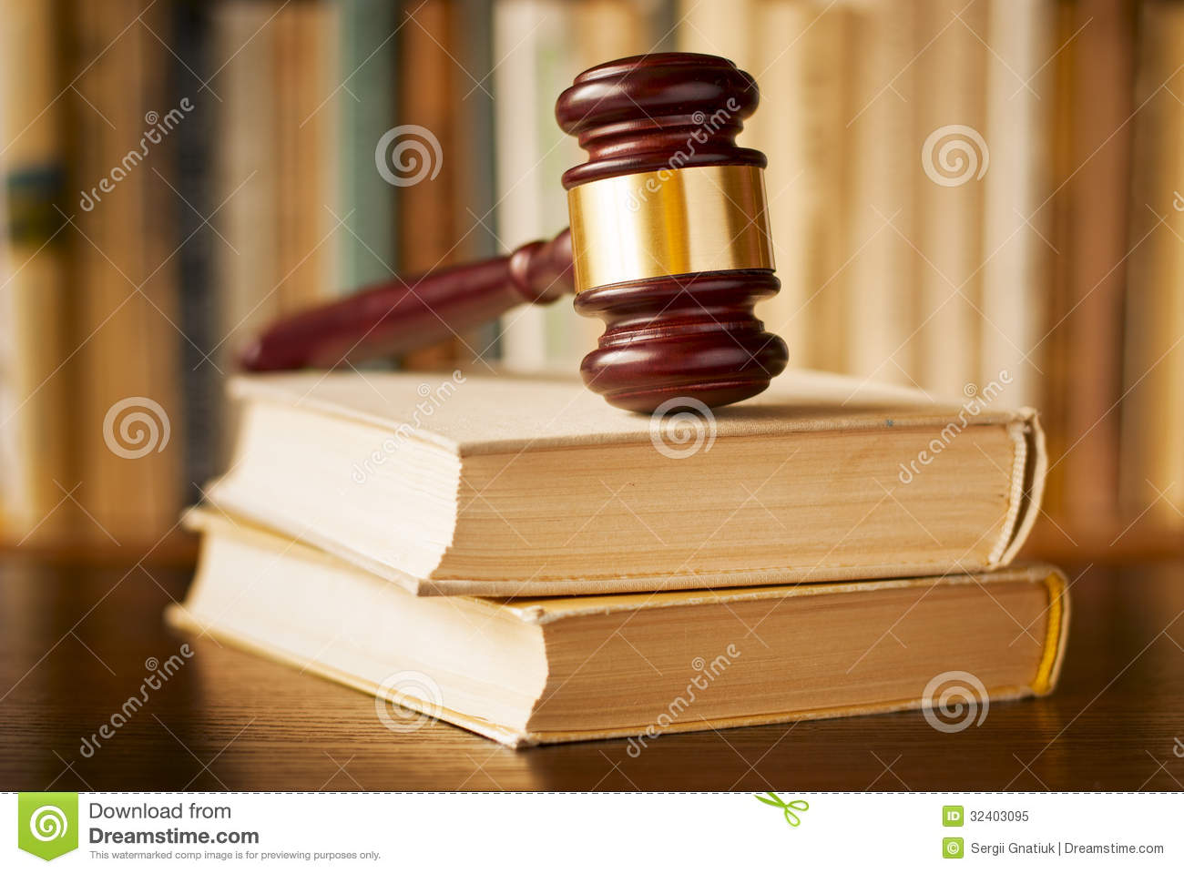 Law Books With A Judges Gavel