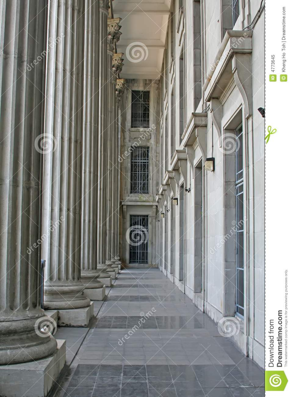 Construcion Stone Column : Law building stone columns royalty free stock photo