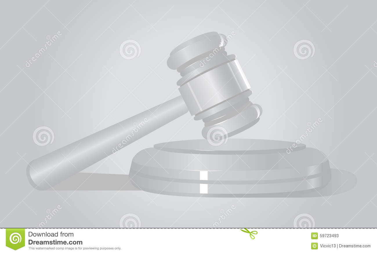 Law . Court Hammer. White Background . Auction Stock Photo ...