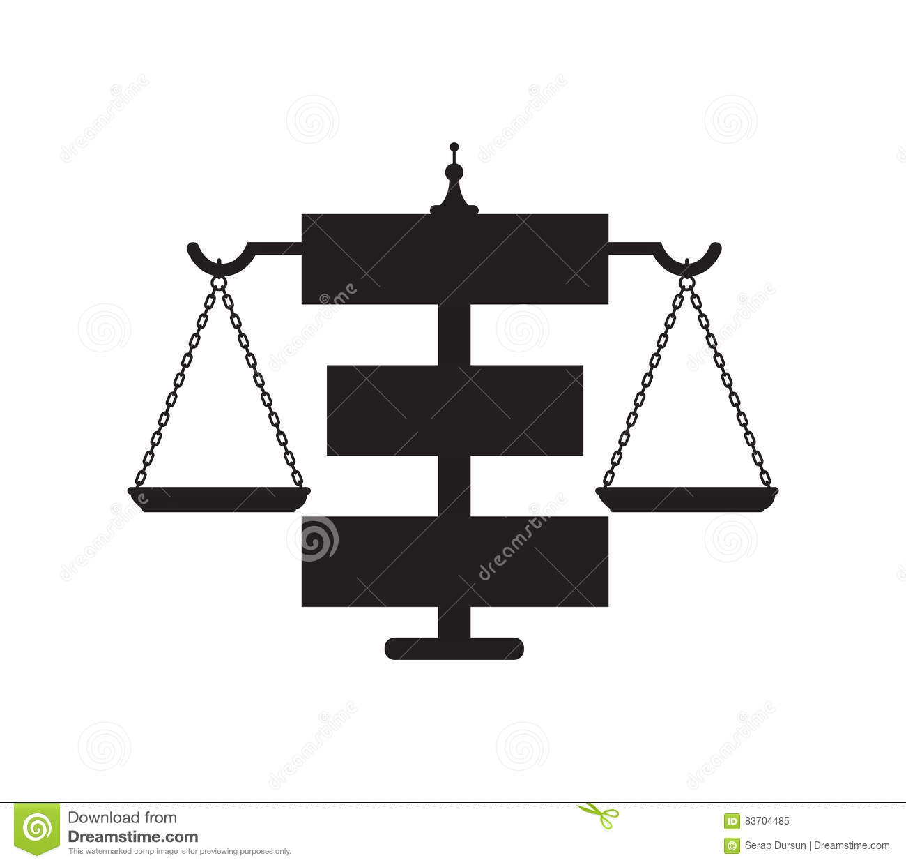 Law Icon Concept Design Stock Vector