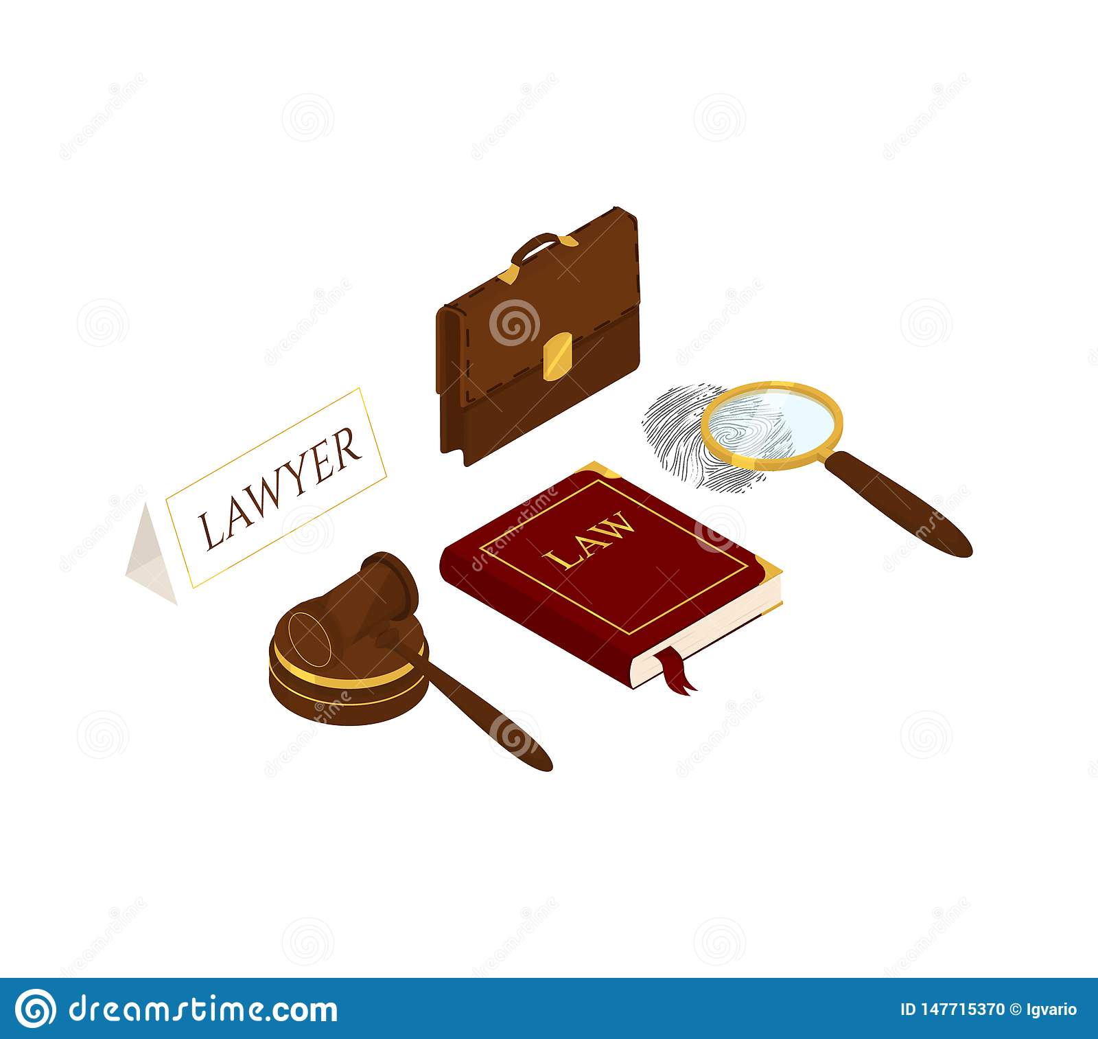 Law and justice isometric