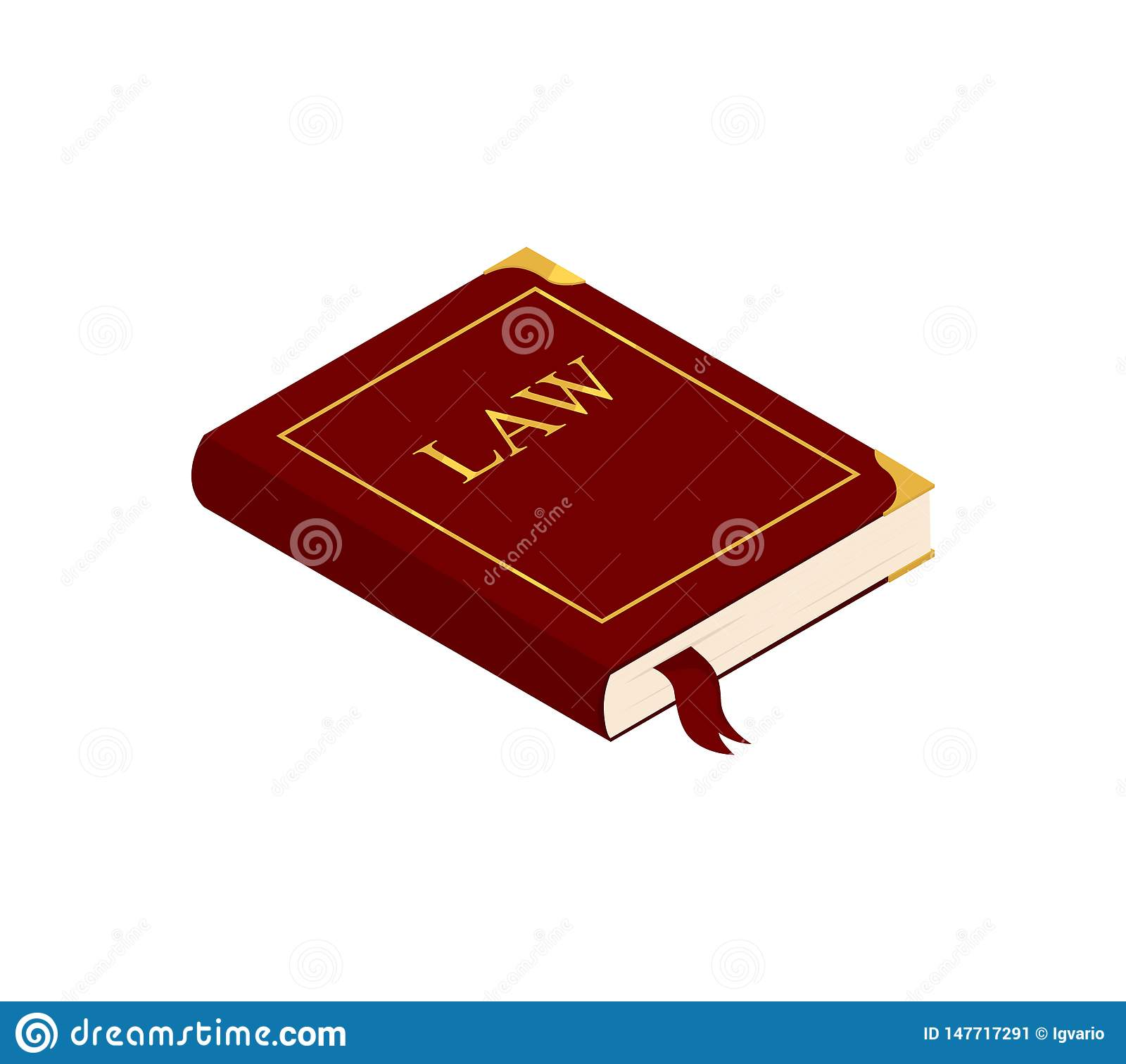 Book of law isolated on white