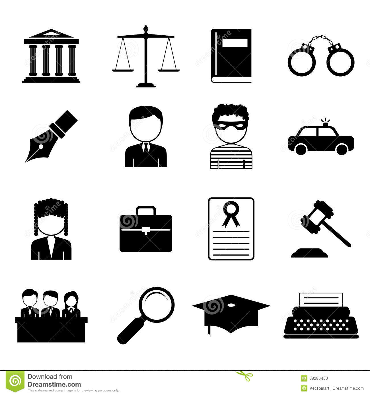 law and justice icon stock photo image 38286450 Criminal Justice Clip Art Scales of Justice with Gavel