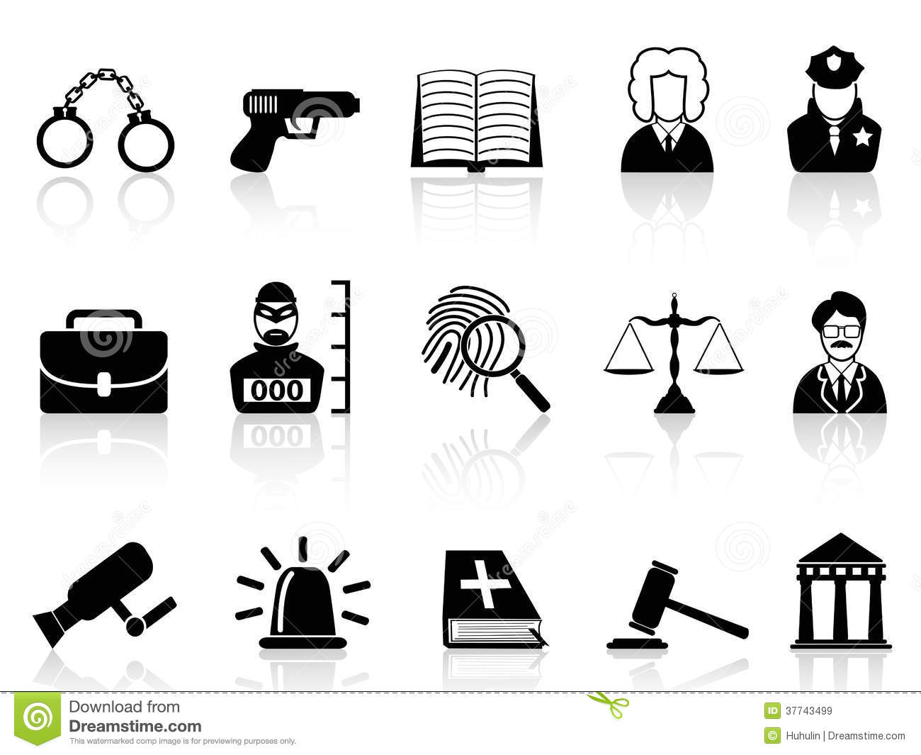 law and justice icons set royalty free stock images Black and White Checks and Balances Clip Art Scales of Justice Symbol