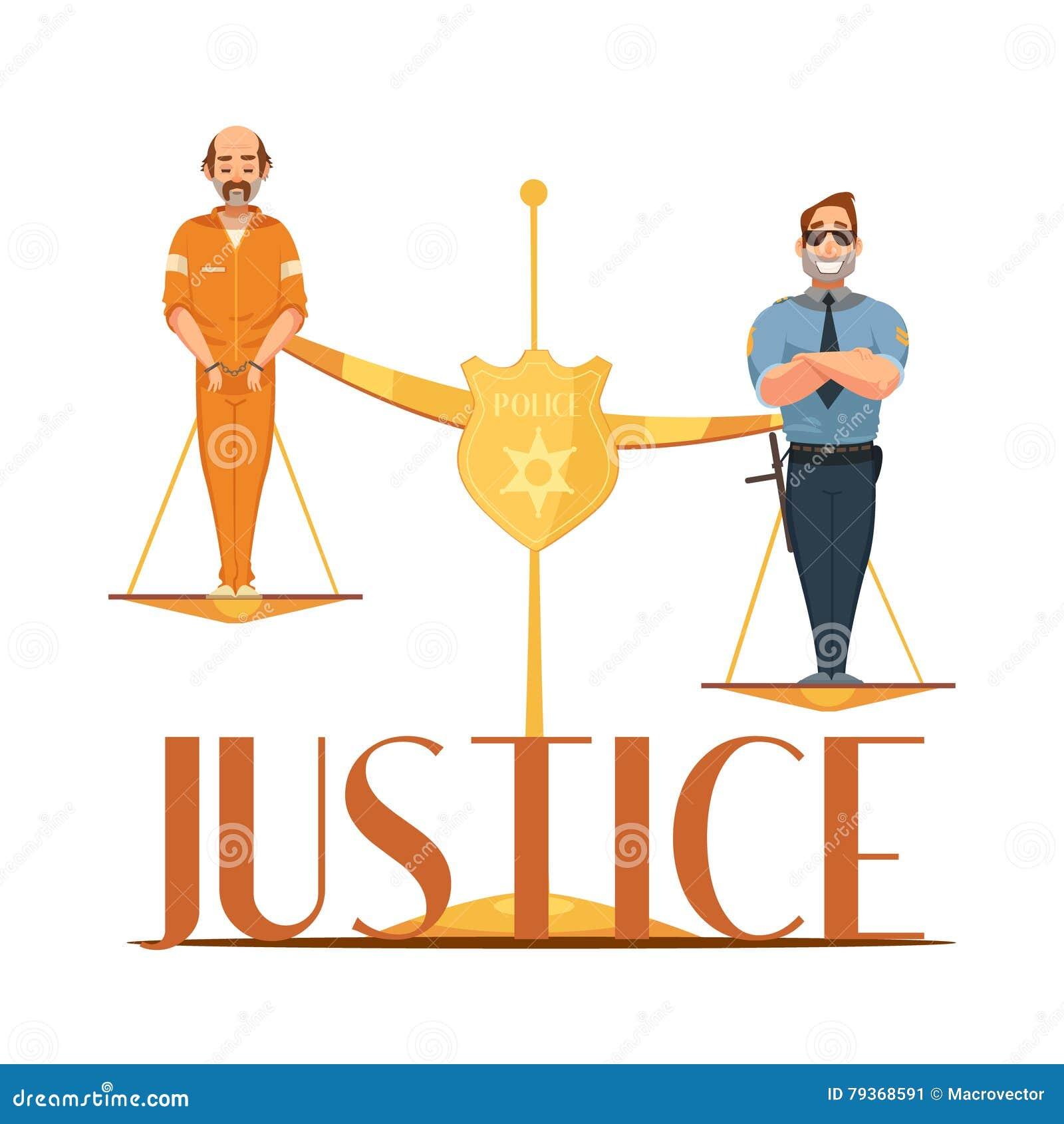 Law justice retro cartoon composition poster stock vector image law justice retro cartoon composition poster buycottarizona
