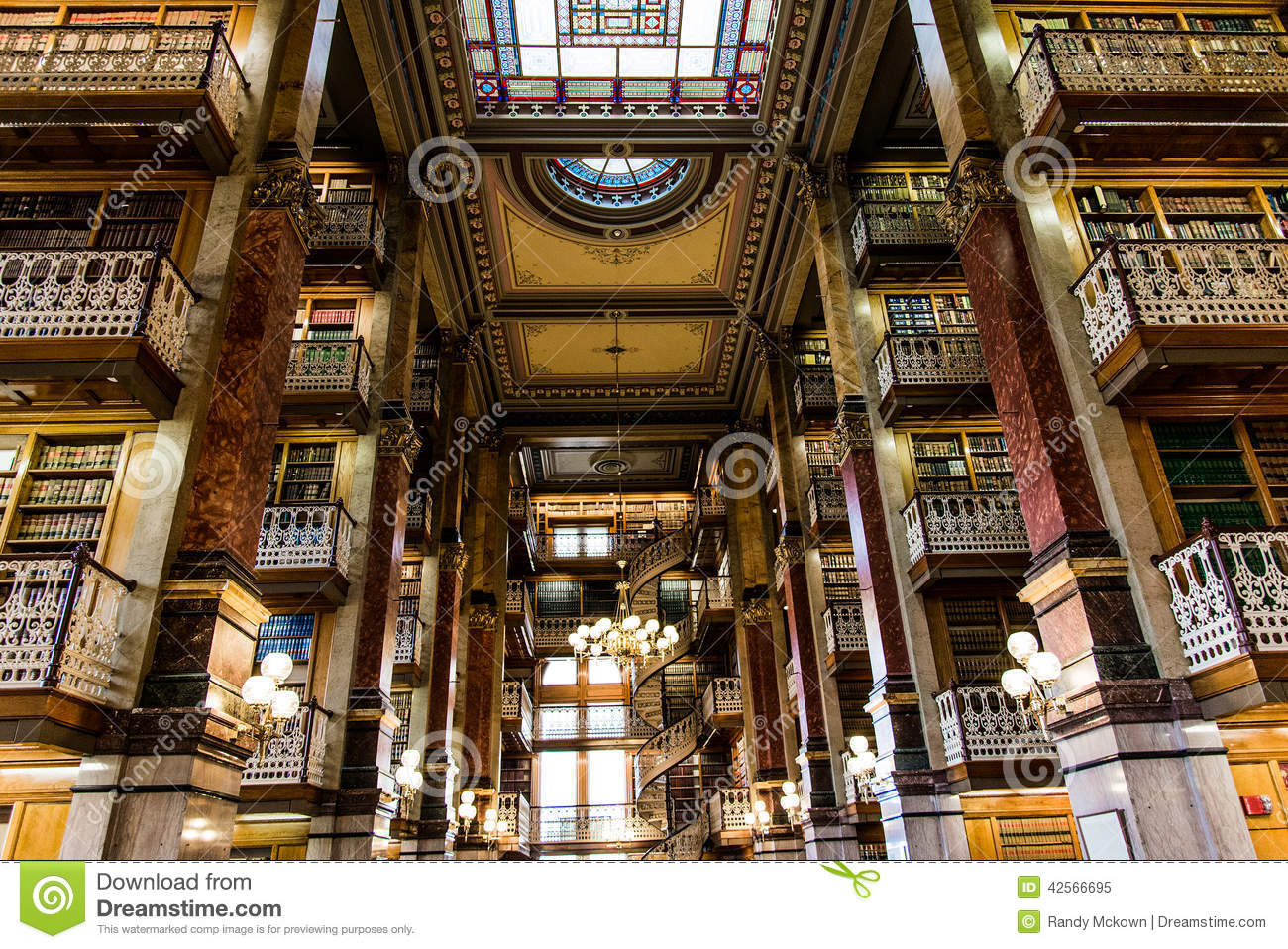 Law Library Inside the Des Moines Iowa State Capital building with