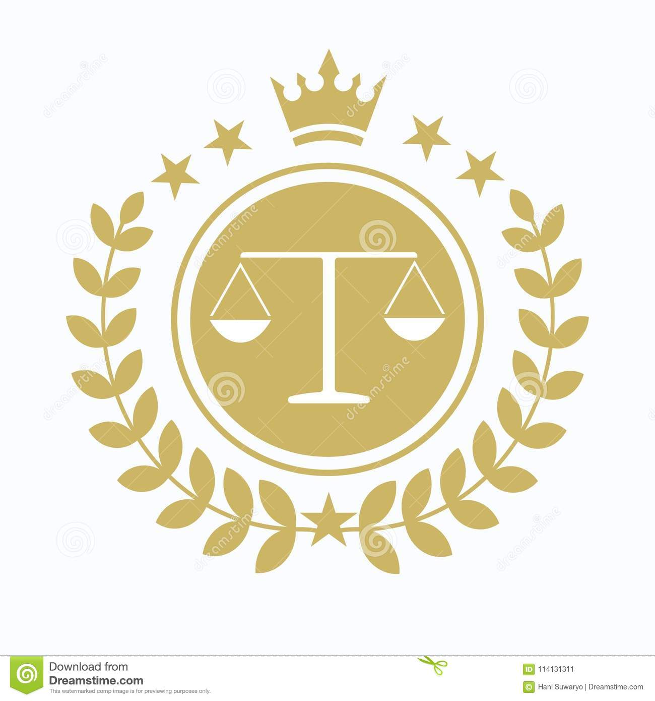 Law Office Logo  The Judge, Law Firm Logo Template, Lawyer