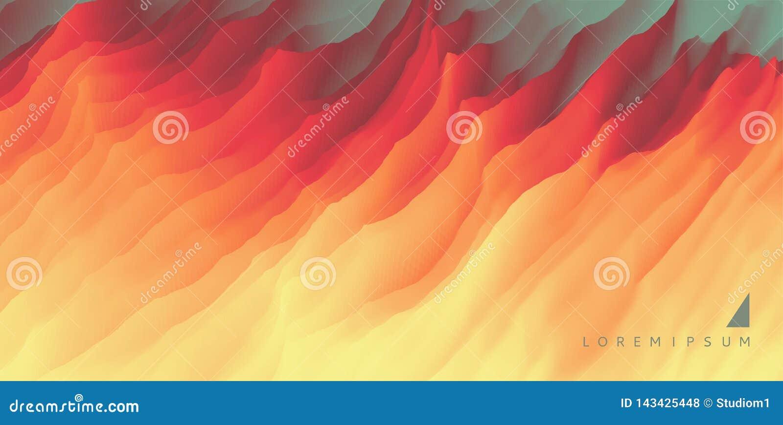 Lawa abstrakcyjny tło Nowożytny wzór projekta ilustracyjny gwiazd wektor