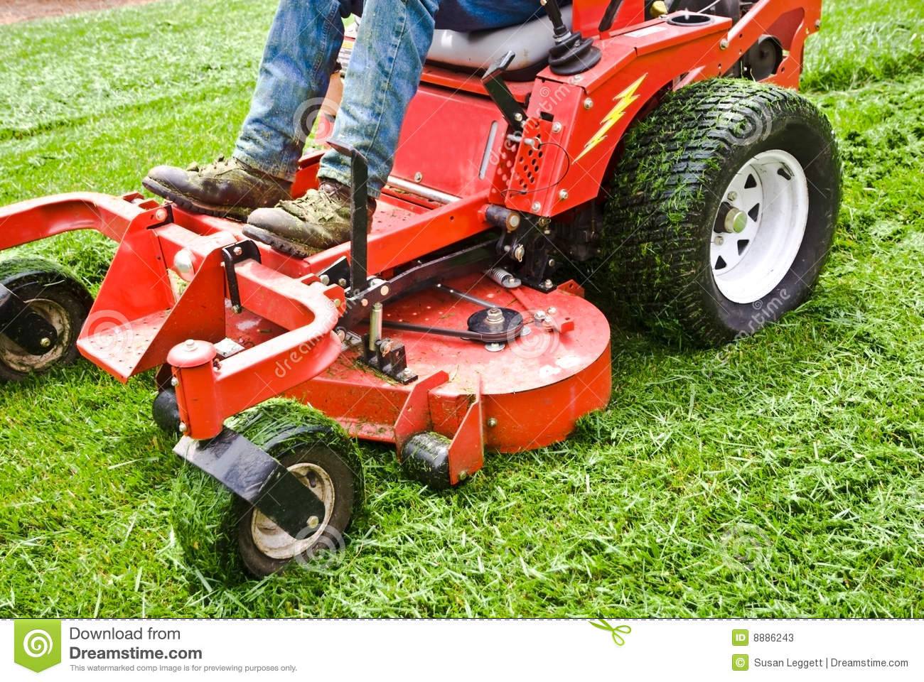Lawn Care Equipment Clip Art Man on a riding lawn mower