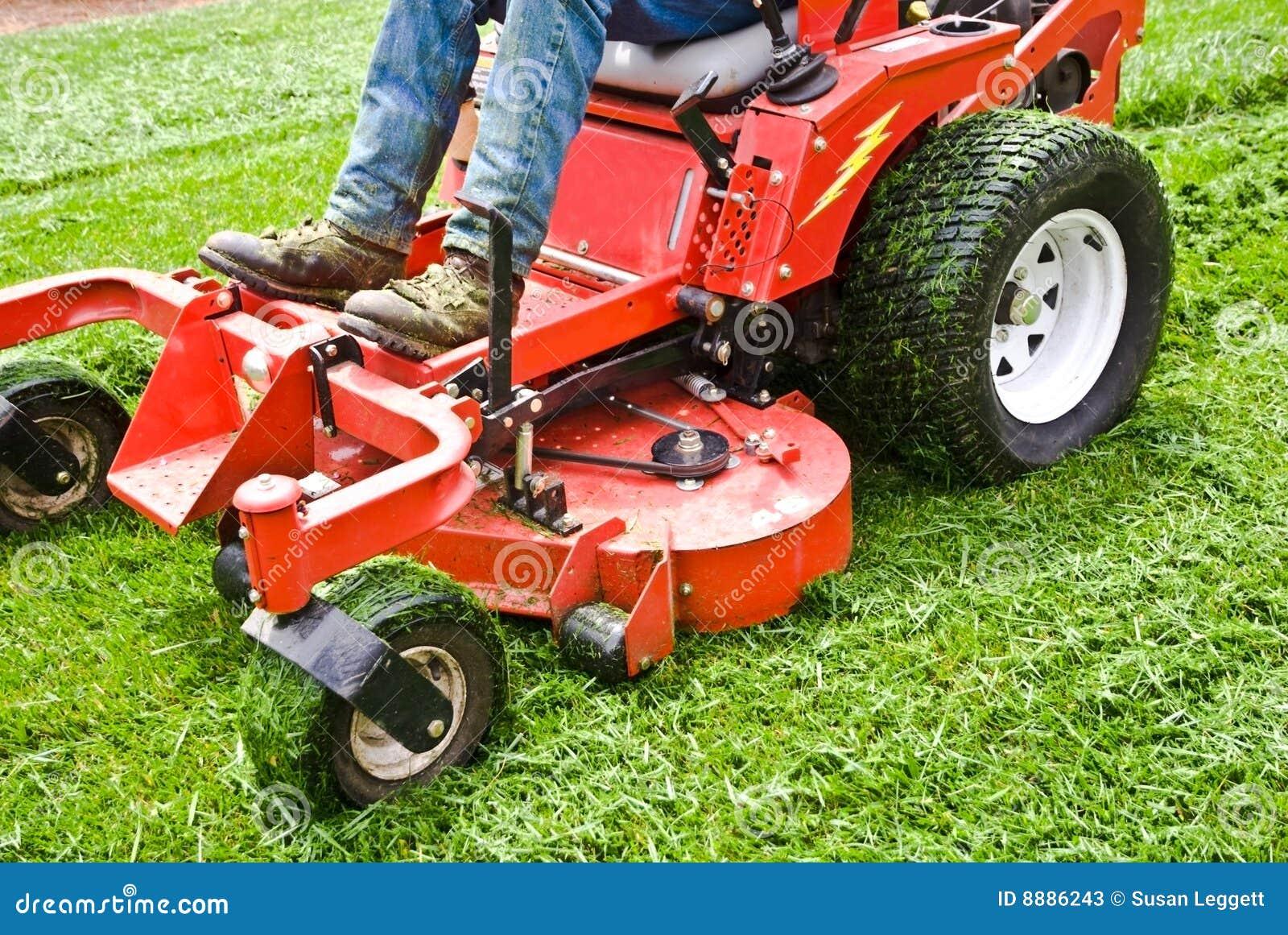 Lawn Care Equipment Clip Art Man on a riding lawn mower