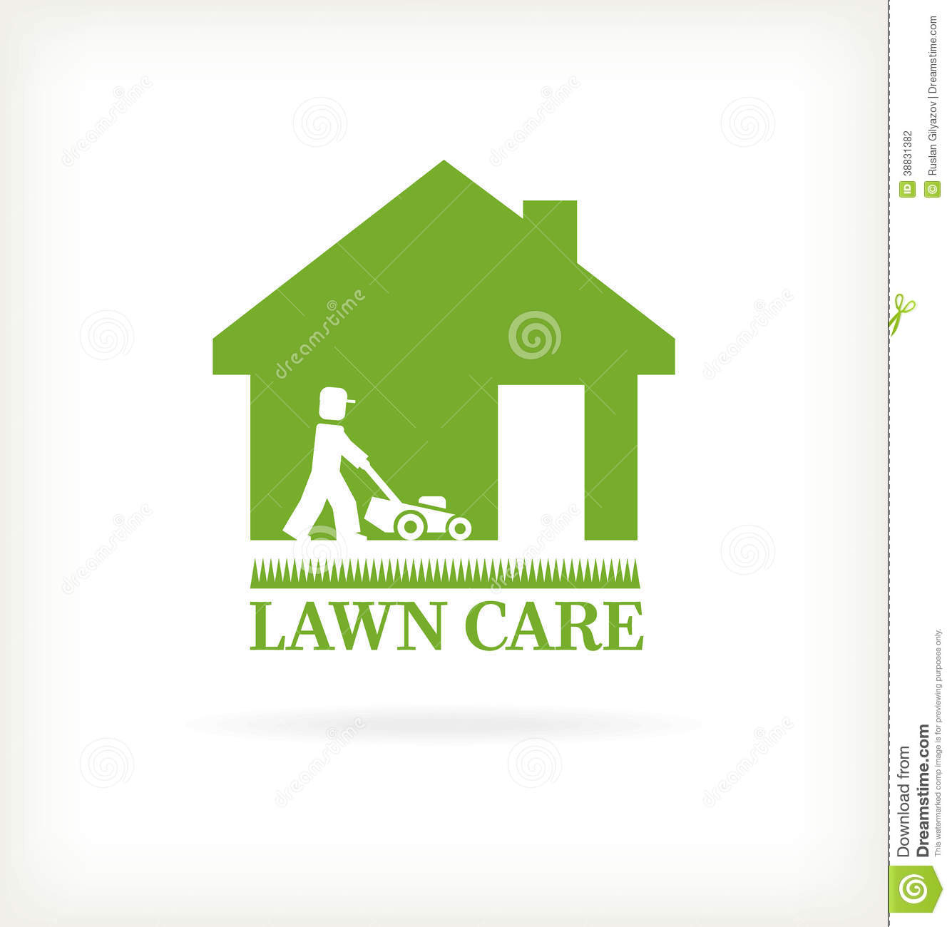 Lawn Care Vector Lawn care symbol. vector illustration. mr: no; pr: no