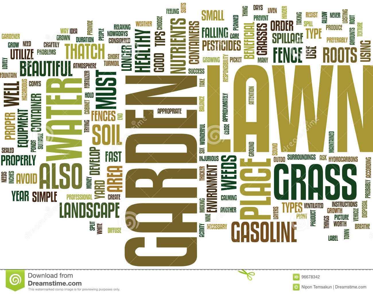 Lawn And Garden Simple Tips For Success Text Background Word Cloud Concept