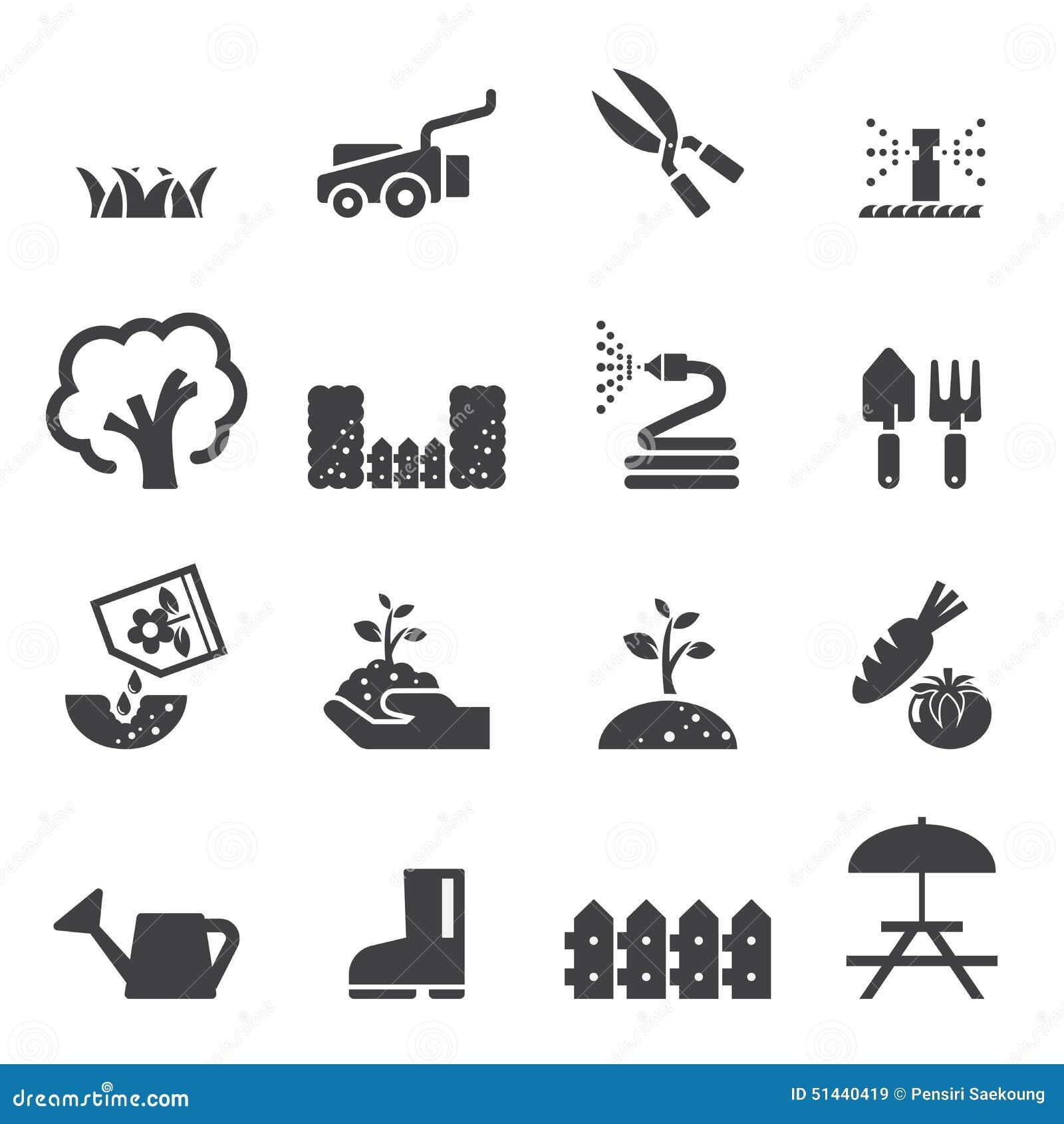 Lawn Icon Set Stock Vector - Image: 51440419