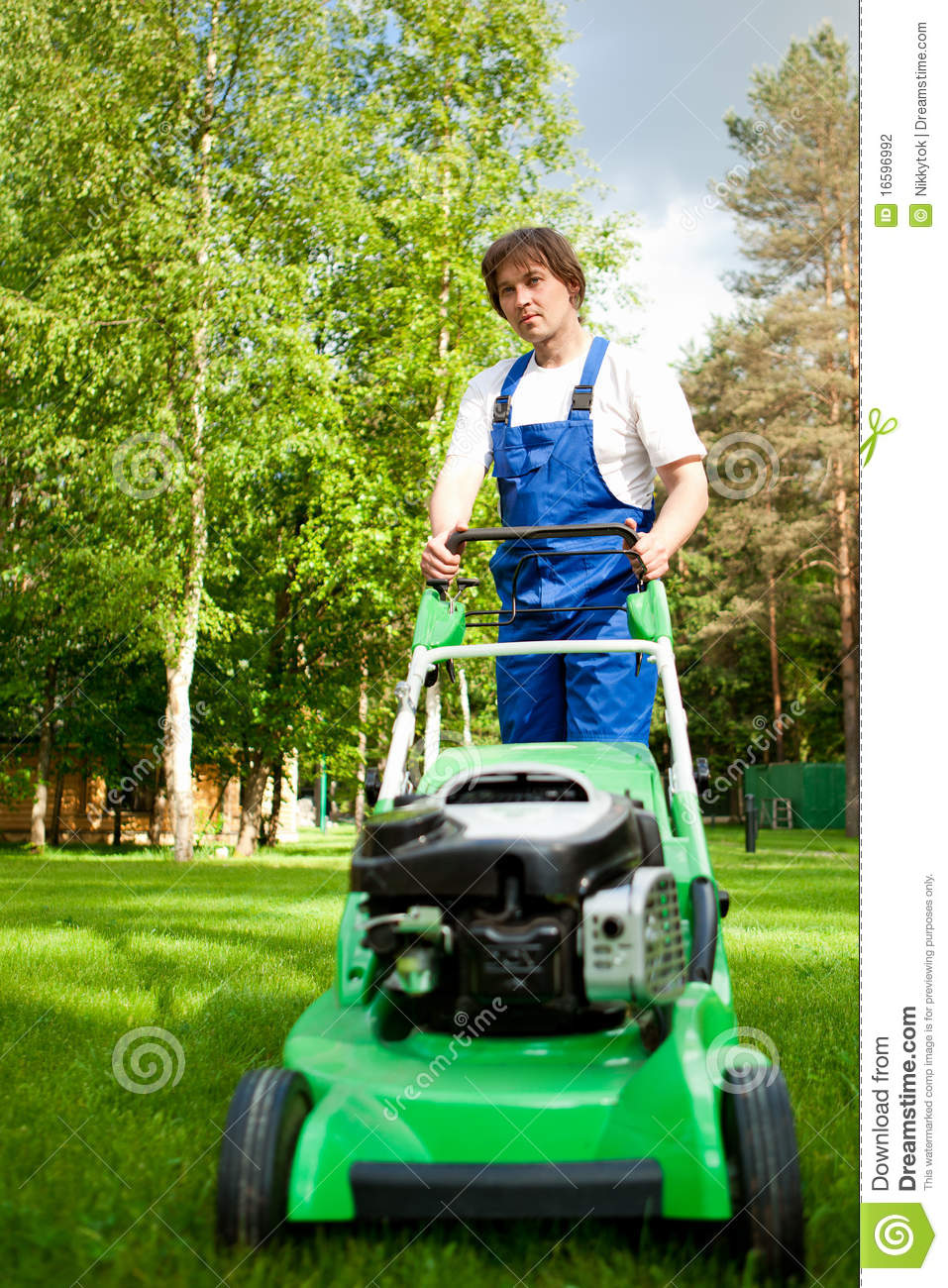 Lawn mover man