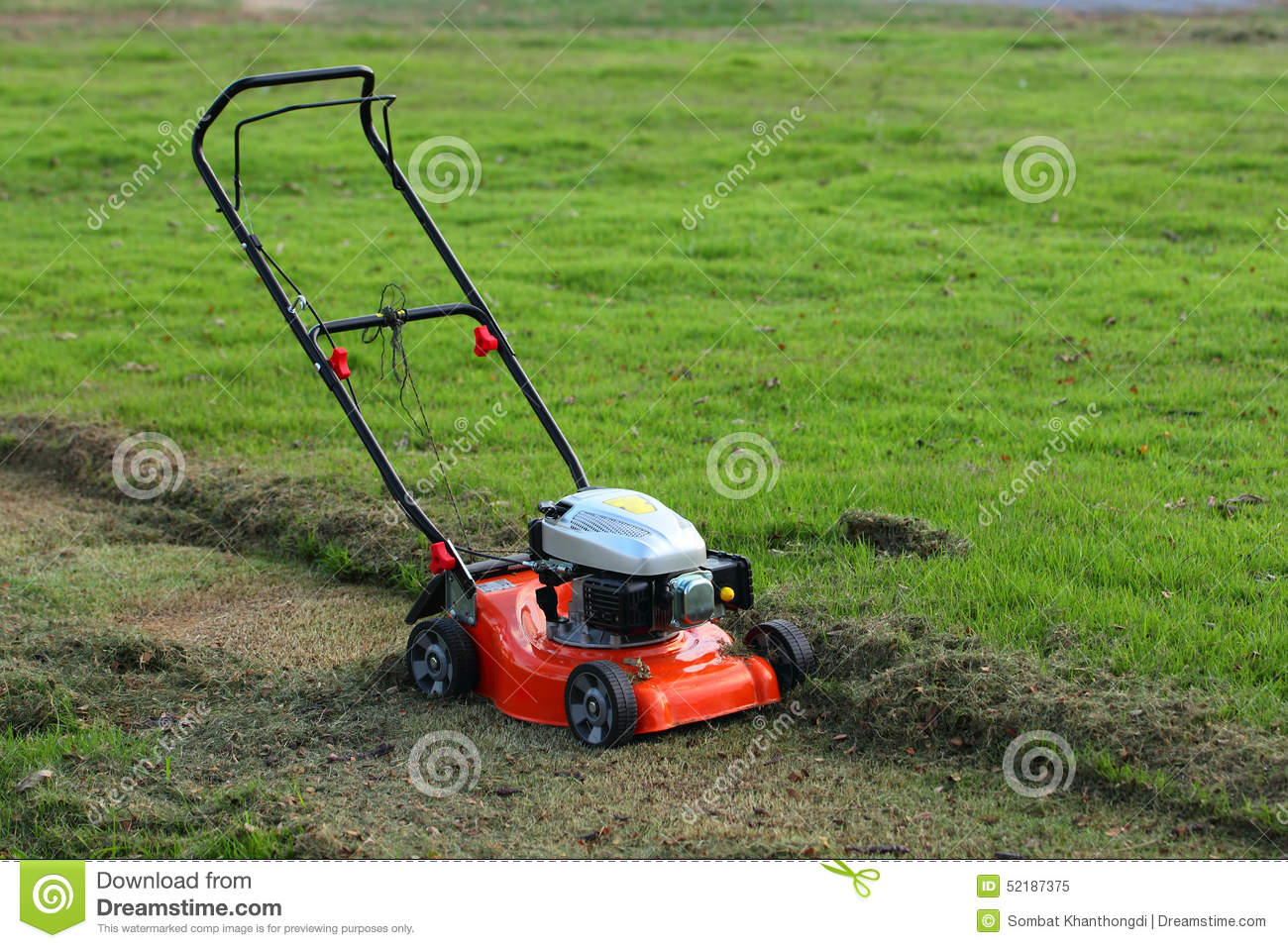 Lawn mower cutting grass stock photo image 52187375 for Lawn mower cutting grass
