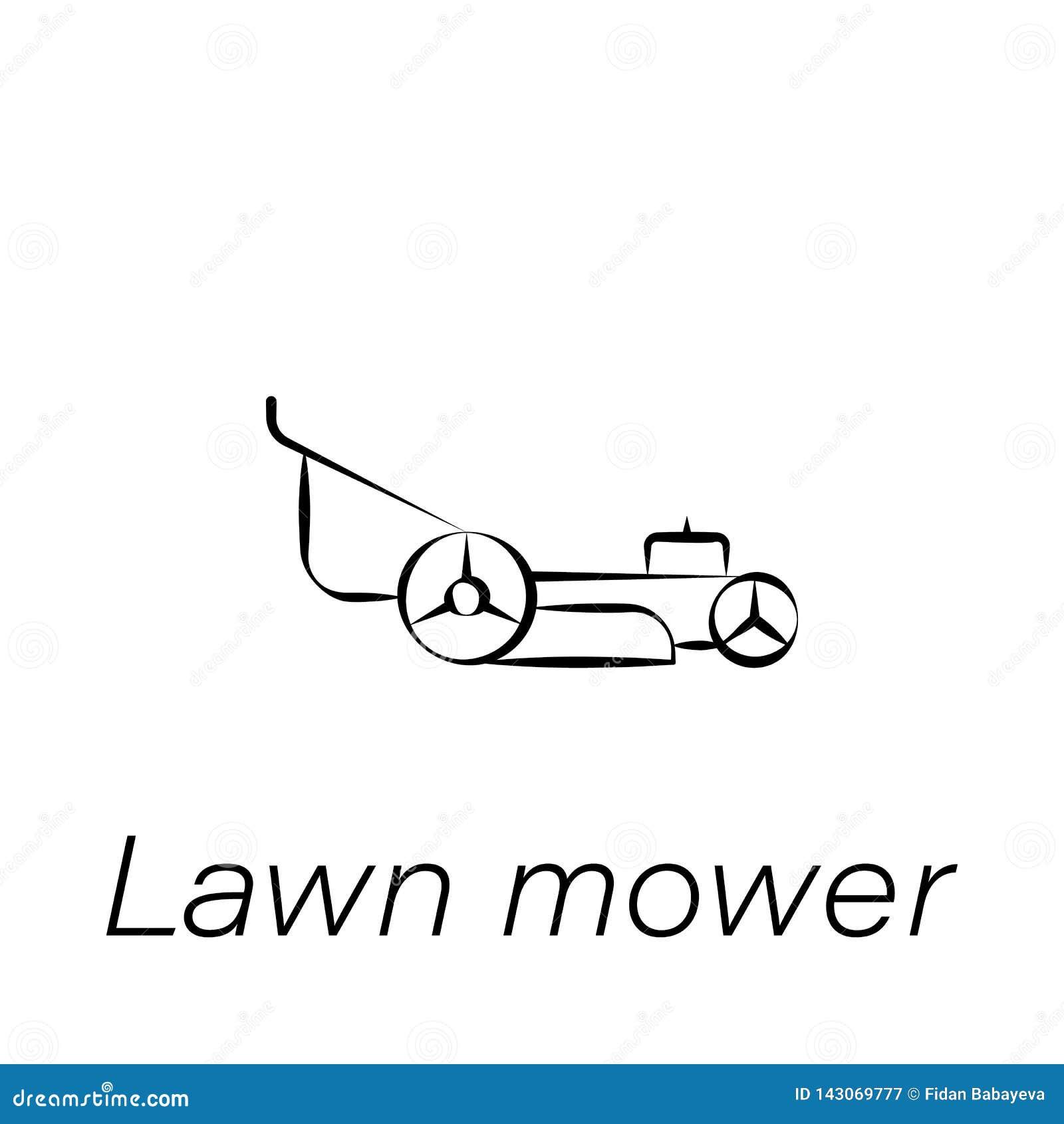 lawn mower cartoon vector