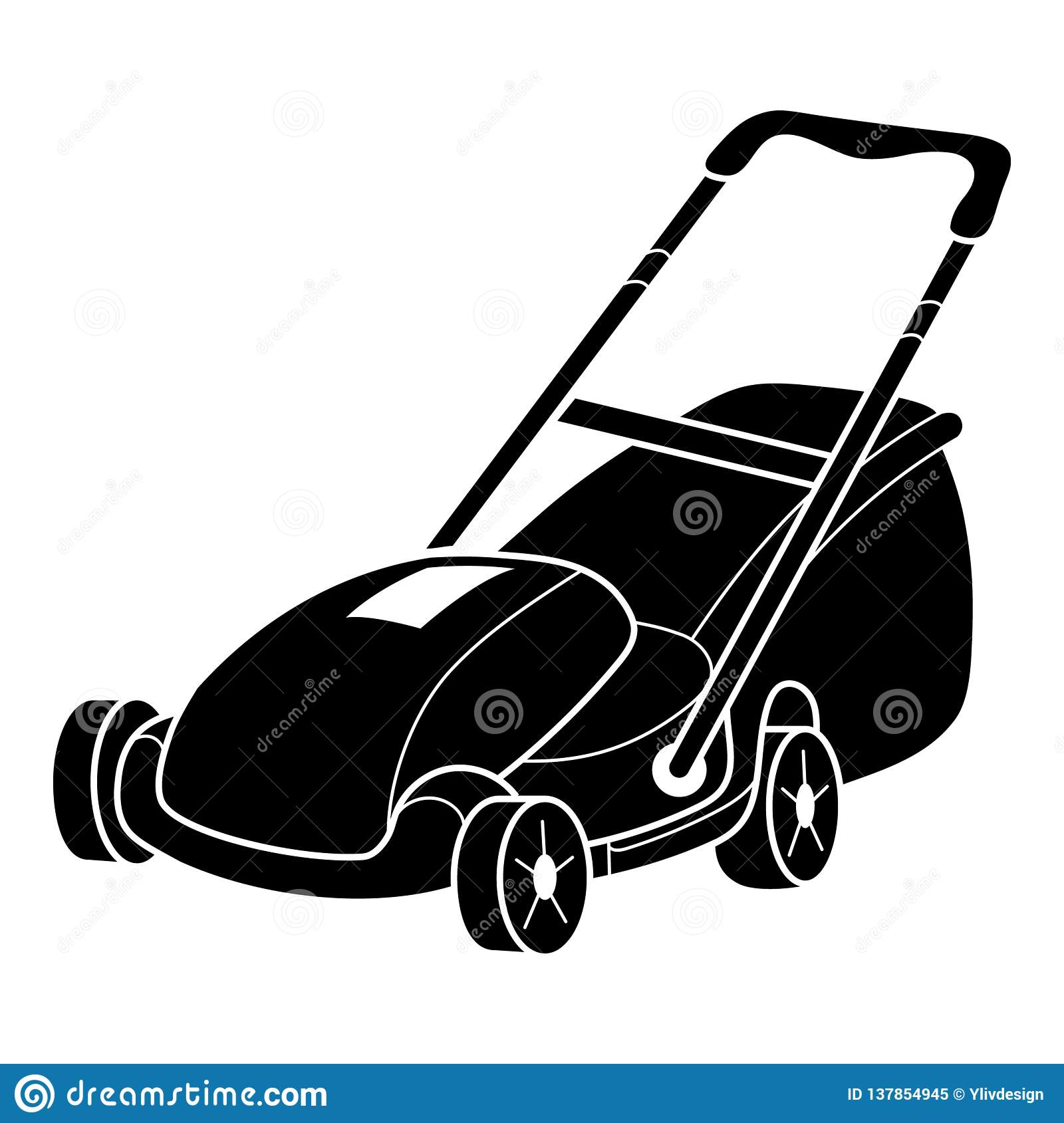 Lawn mower icon, simple style