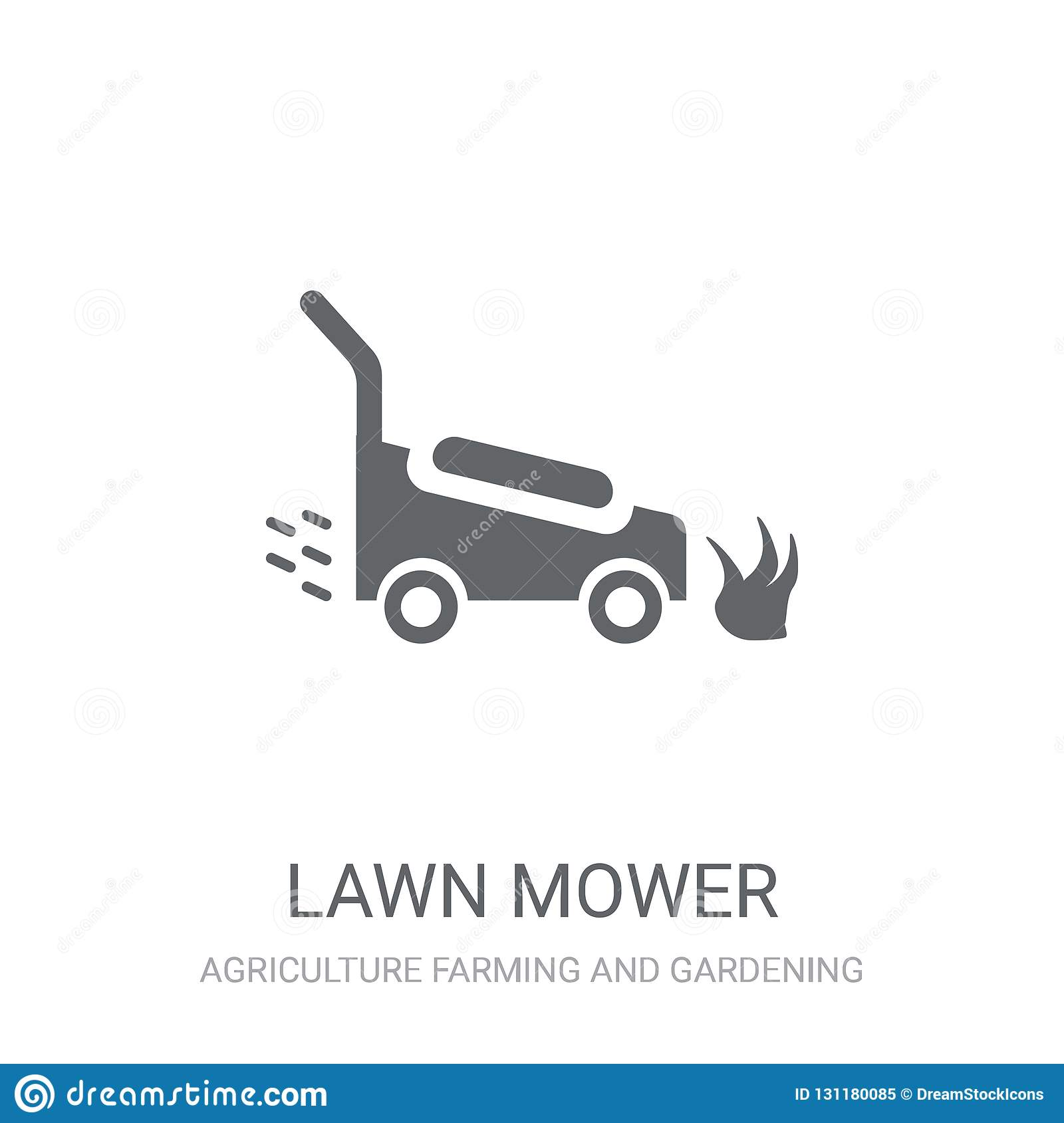 Lawn mower icon. Trendy Lawn mower logo concept on white background from Agriculture Farming and Gardening collection