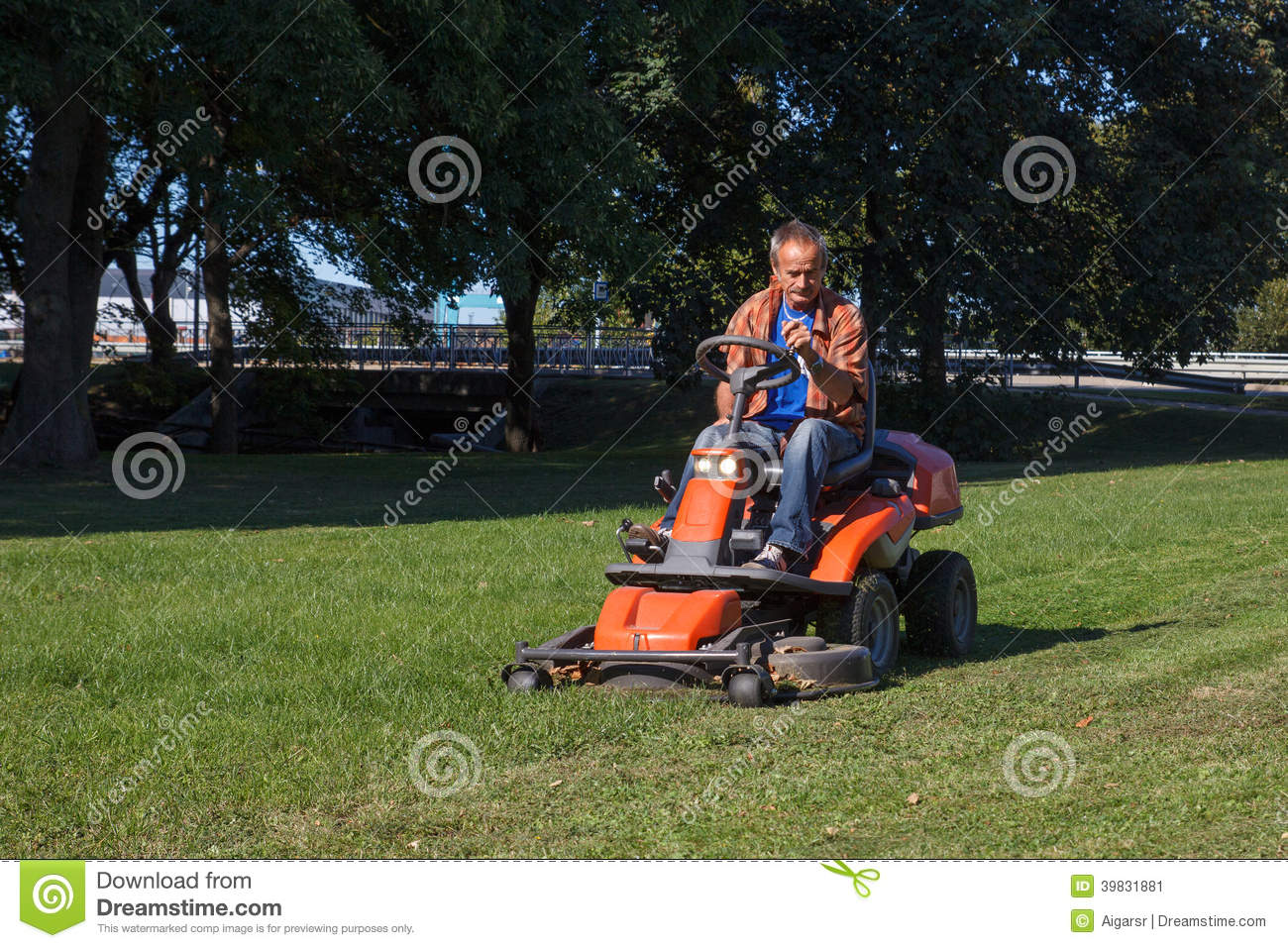 Lawn Mower Stock Photo Image 39831881