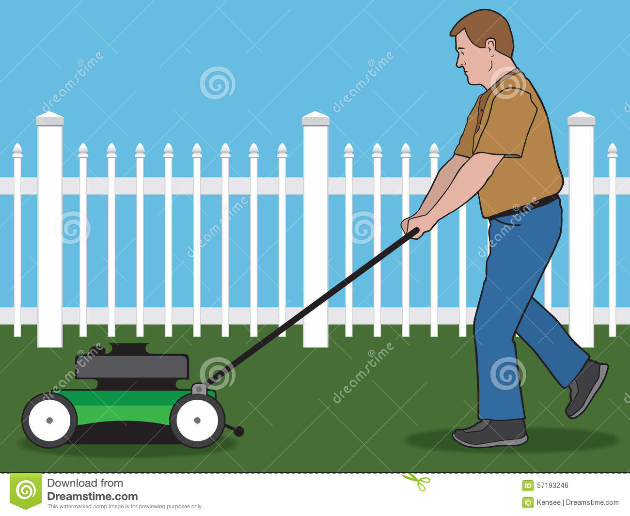Lawn Mower Stock Vector Image 57193246